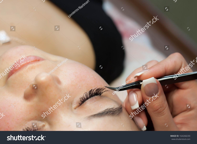 Eyelash Extensions Eyelash Correction Removal Lashes Stock Photo