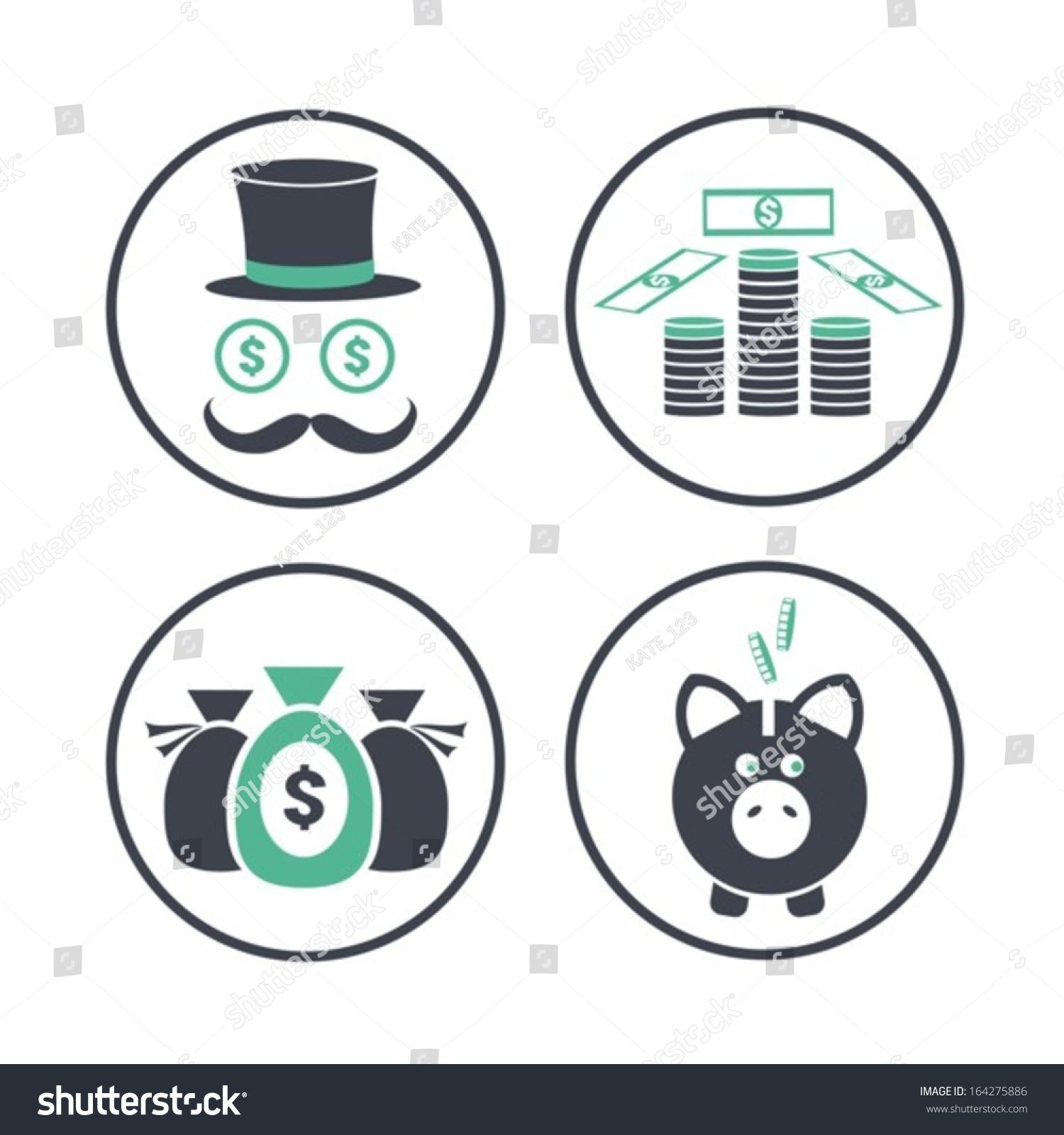 Symbols Wealth Vector Eps 10 Non Transparent Stock Vector 2018