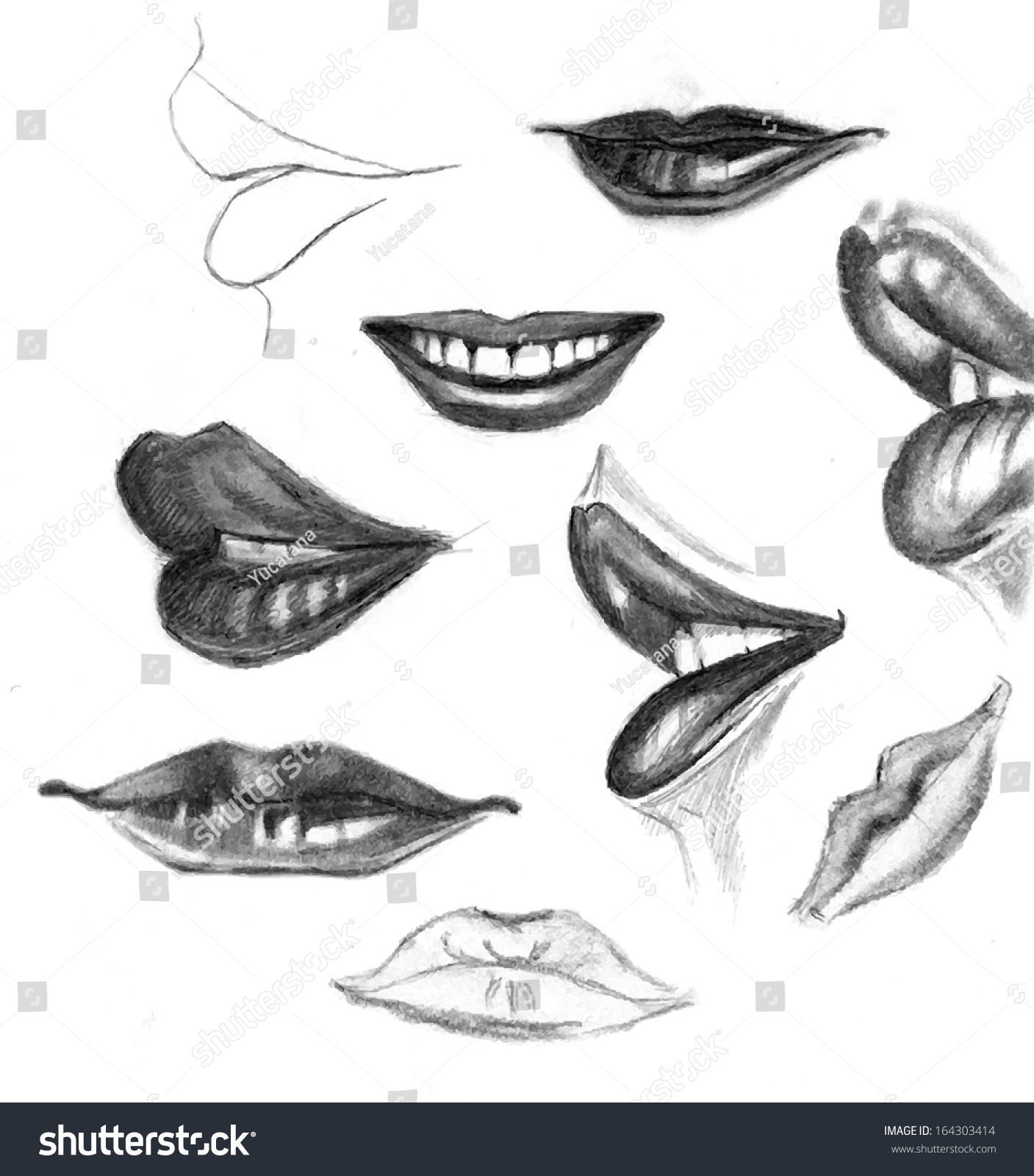 How to draw realistic lips with pencil