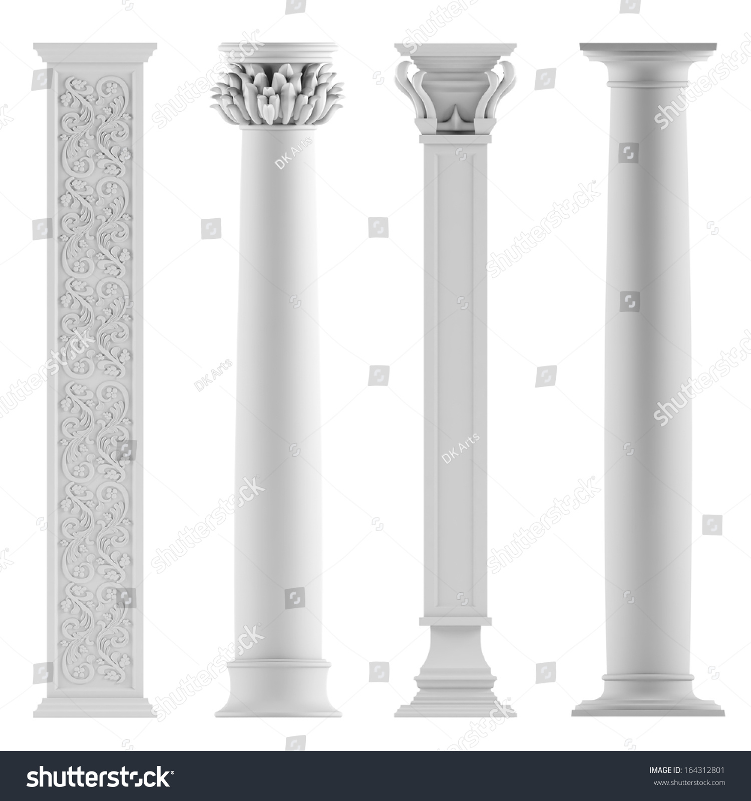 Modern style architectural classic columns stock for Architectural columns