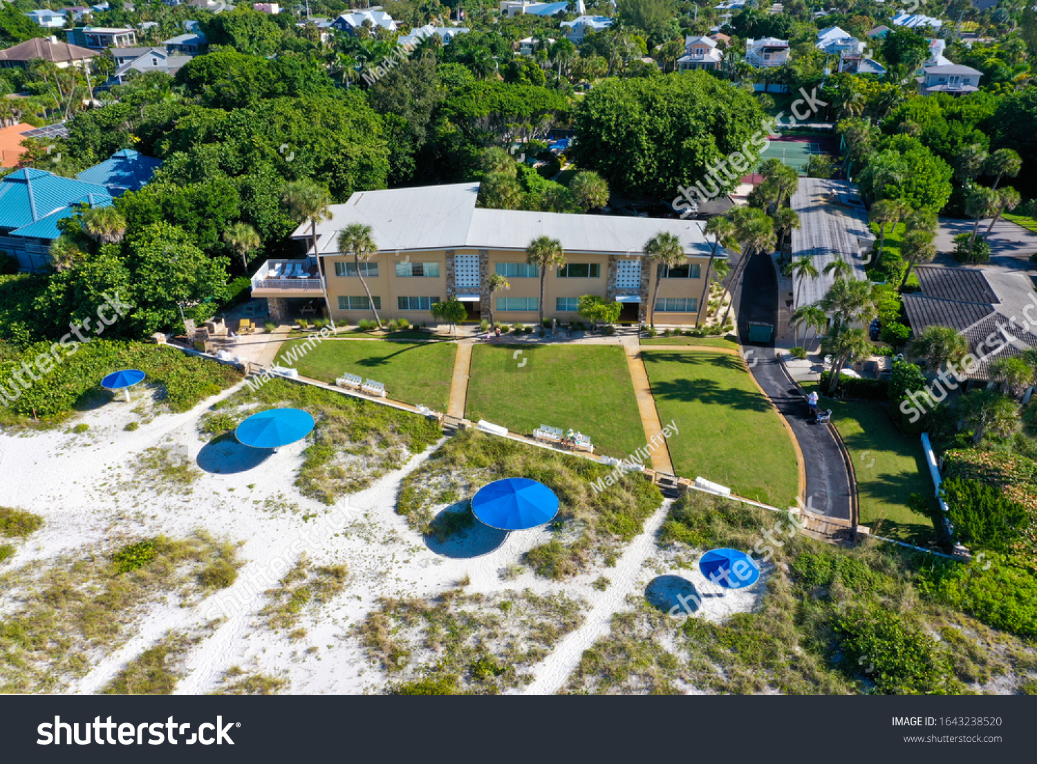 ANNA MARIA ISLAND, FL / USA - September 23, 2019: LayBy Resort on Holmes Beach Fl. is a beach front property reportedly sold to Country Music Superstars Garth Brooks and his wife, Trisha Yearwood