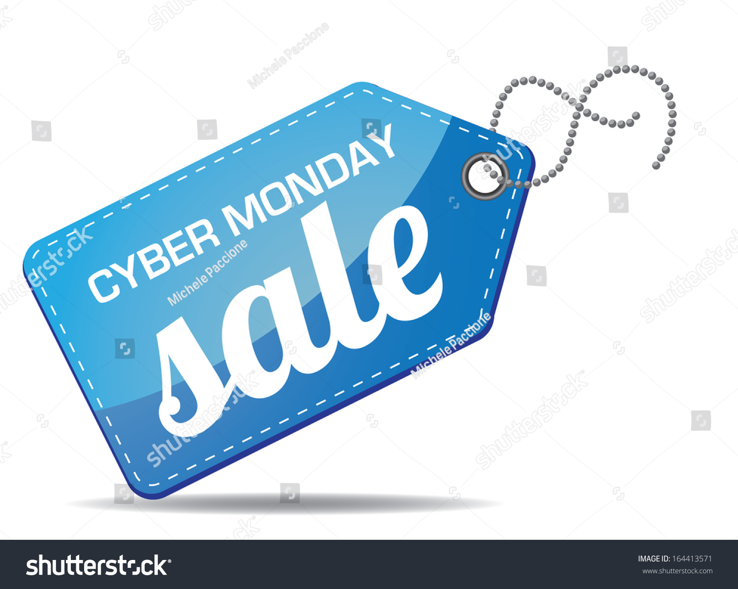 Cyber Monday Sales Tag Eps 10 Vector Grouped For Easy