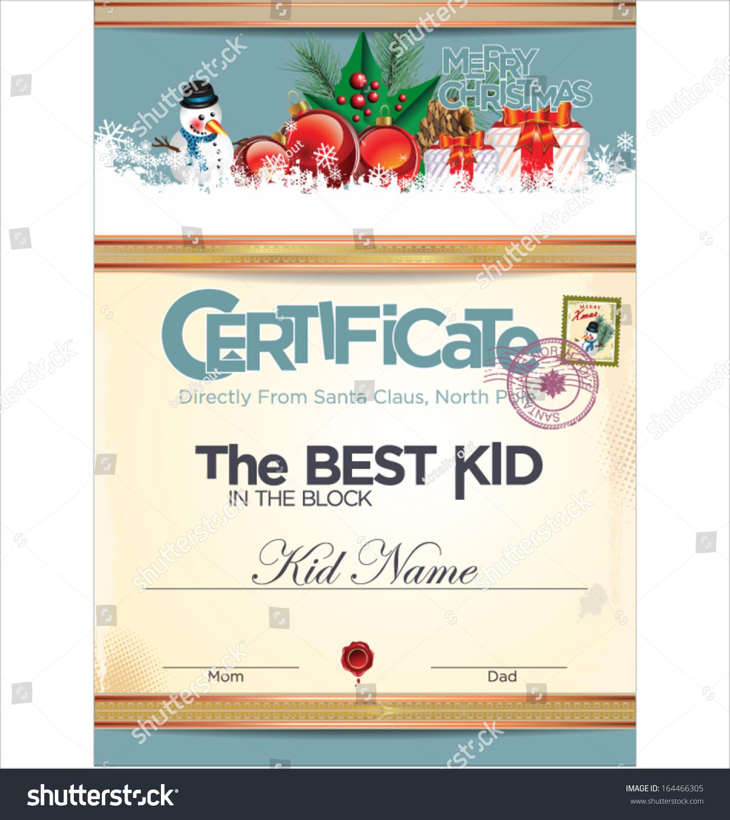 Best kid block certificate template stock vector 164466305 best kid in the block certificate template yadclub Images