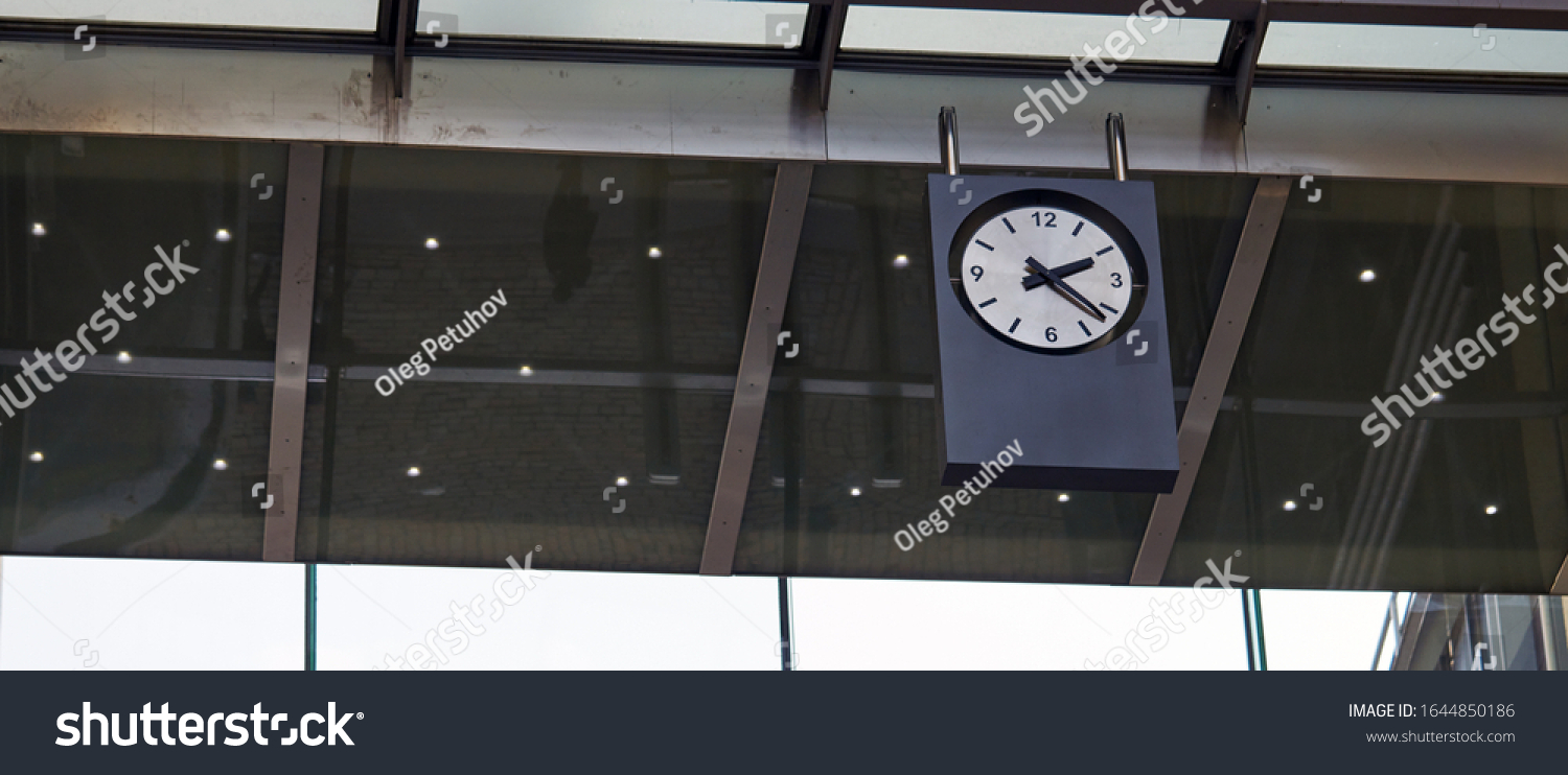 Clock at Station. on the morning time #1644850186