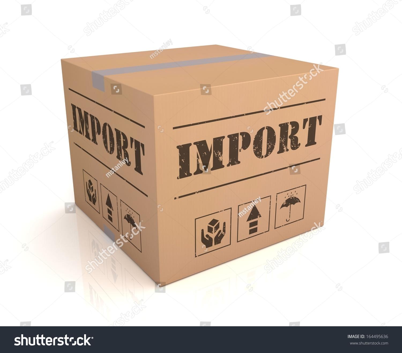Import Box Stock Illustration Shutterstock
