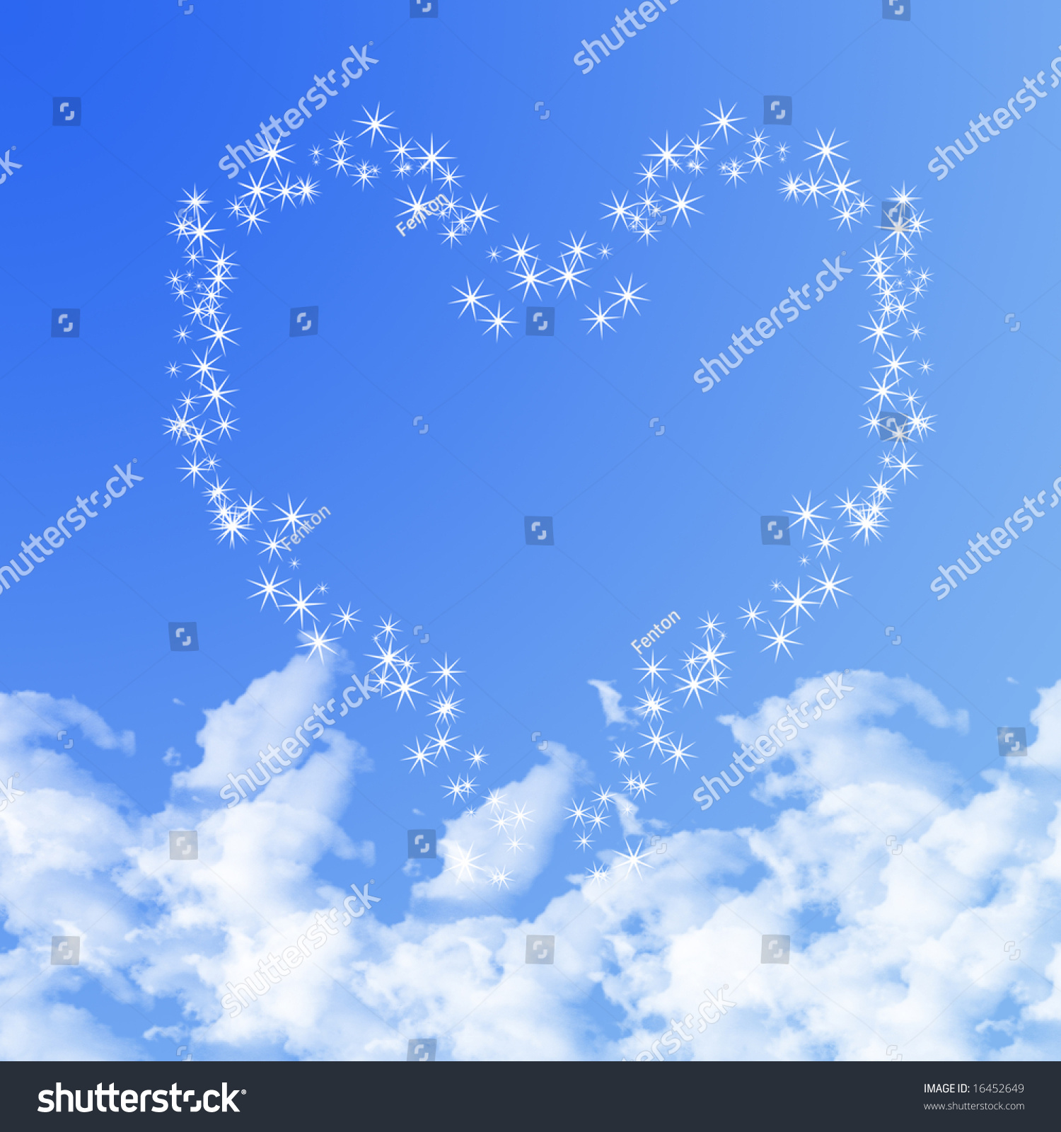 heart clouds stock illustration 16452649 - shutterstock