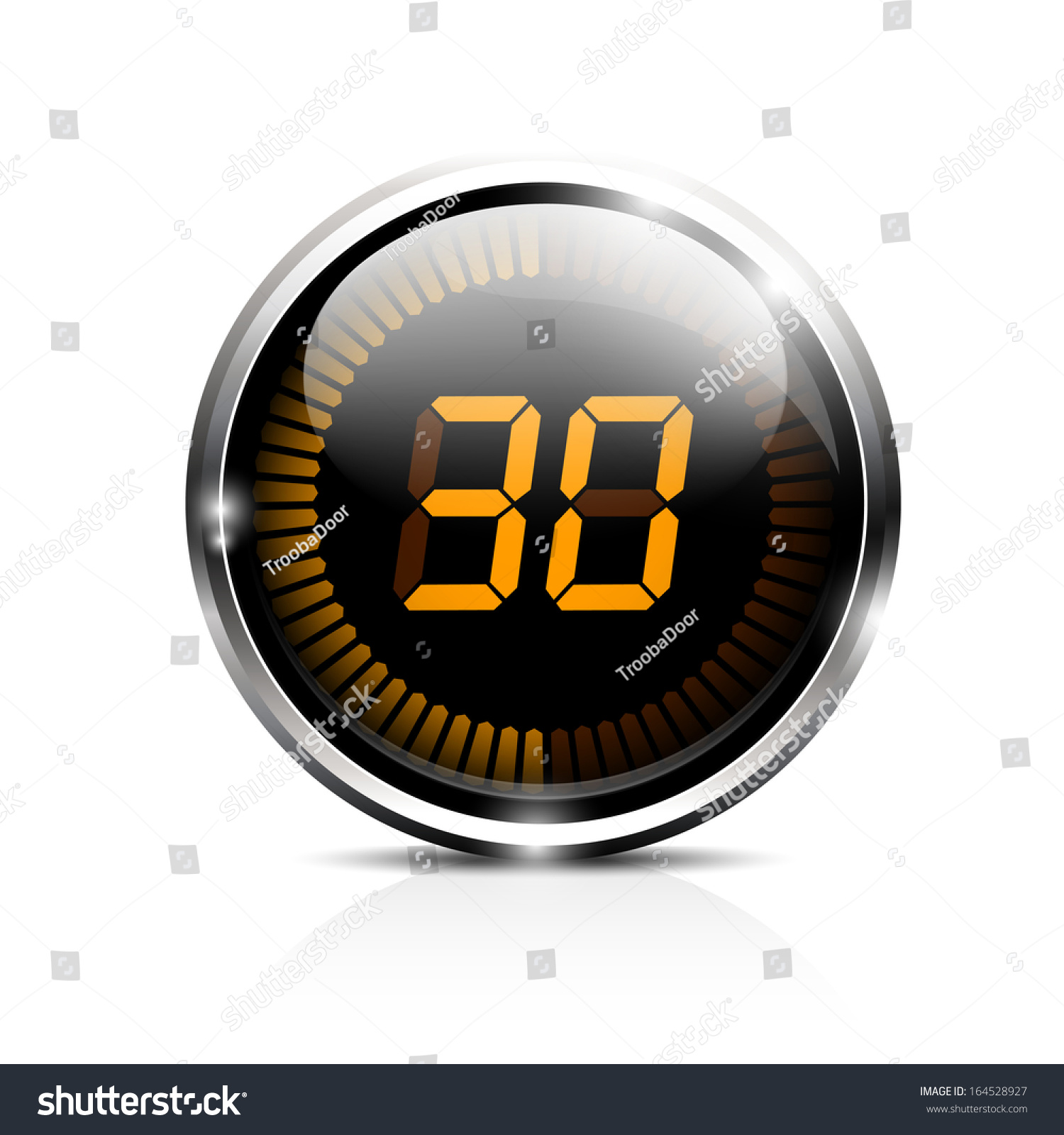 Electronic Brilliant Timer 30 Seconds Stock Vector ...