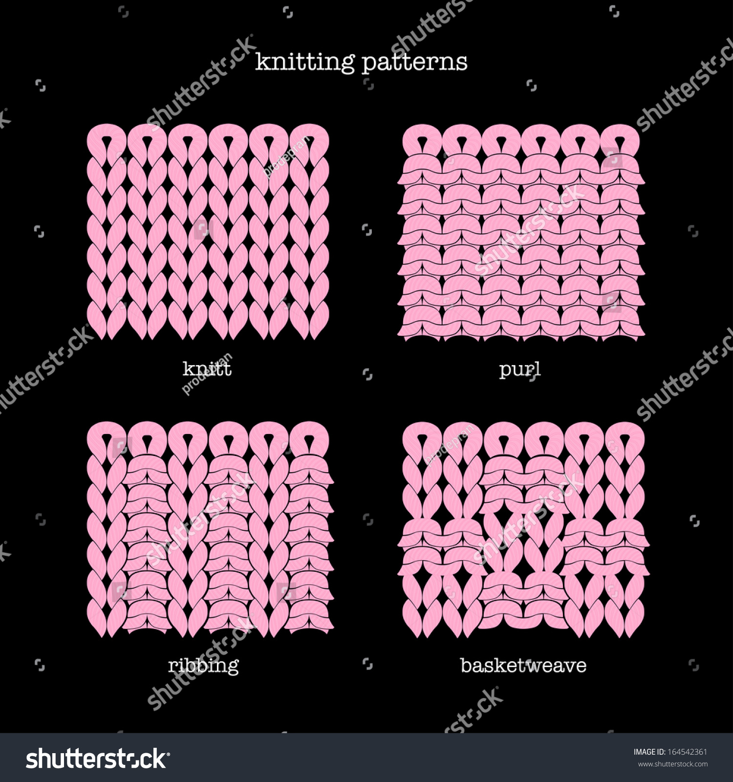 Knitting Vector Patterns : Knitting patterns stock vector shutterstock