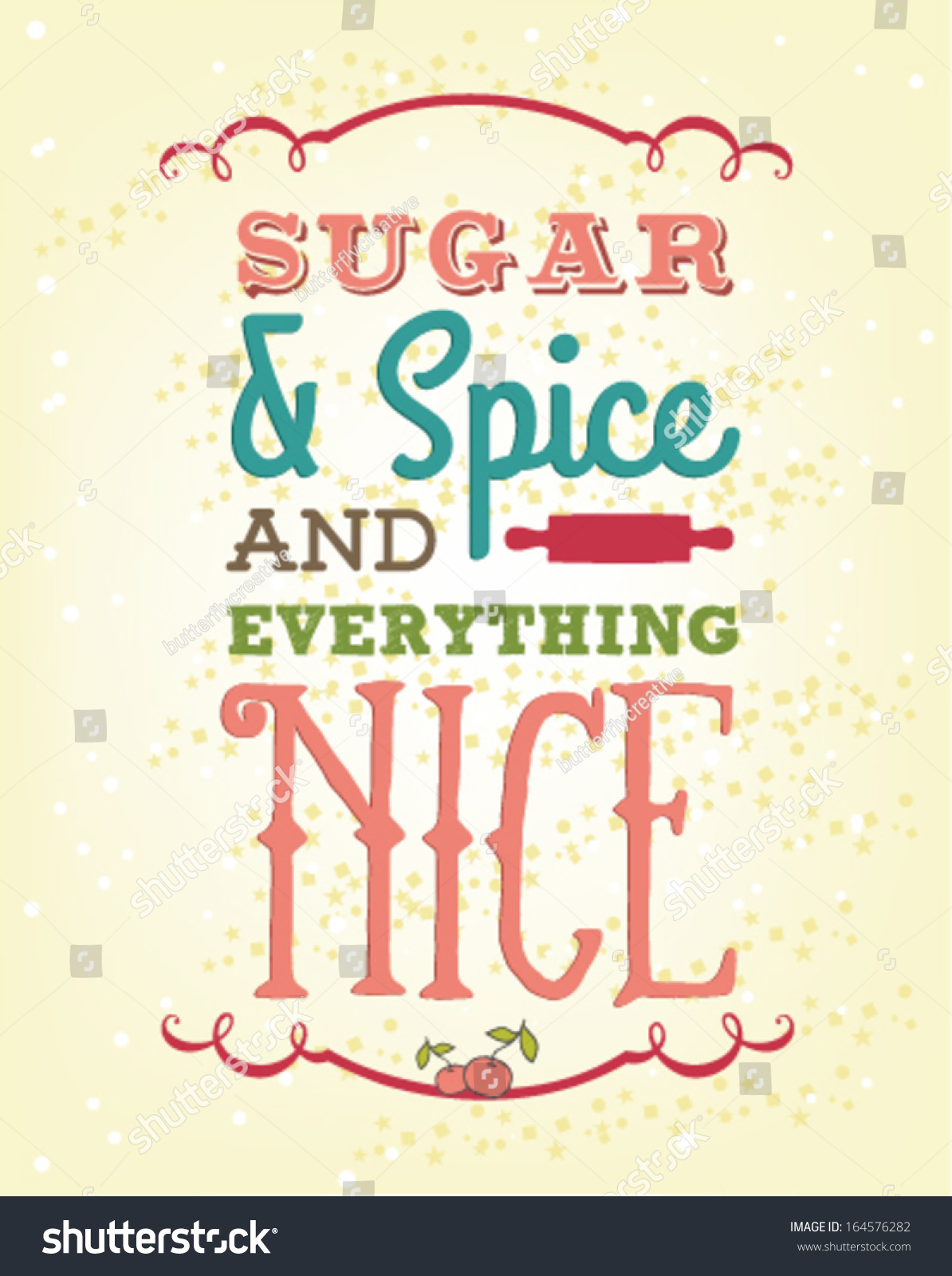 And Everything Else Too All Kinds Of Neighbors: Sugar Spice Everything Nice Vector Illustration Stock