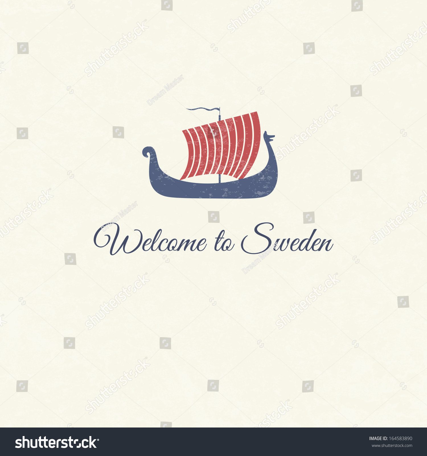 Greeting card viking ship national symbol stock vector 164583890 greeting card with viking ship national symbol of sweden with text welcome to sweden buycottarizona