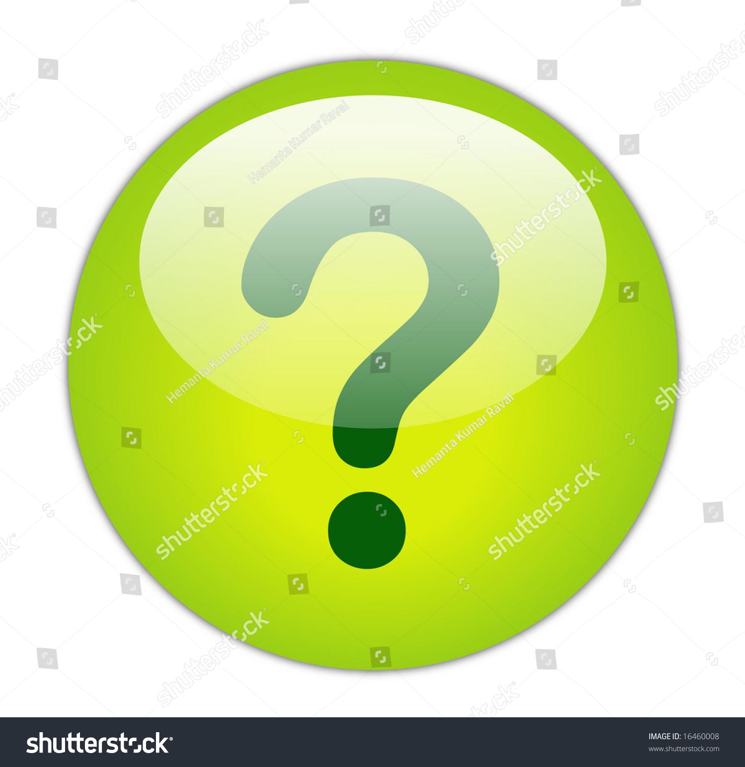 Glassy Green Question Mark Icon Button Stock Illustration ...