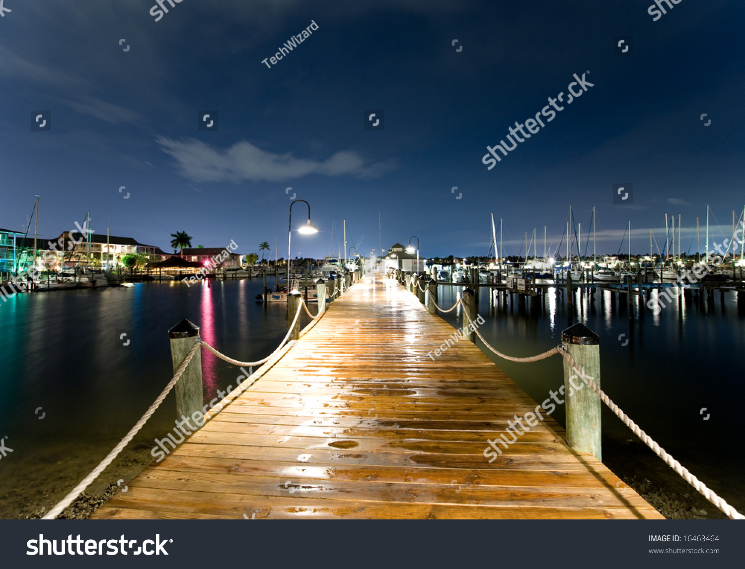 Harbor Peer(Dock) At Dusk, With Ships In Distance And ...