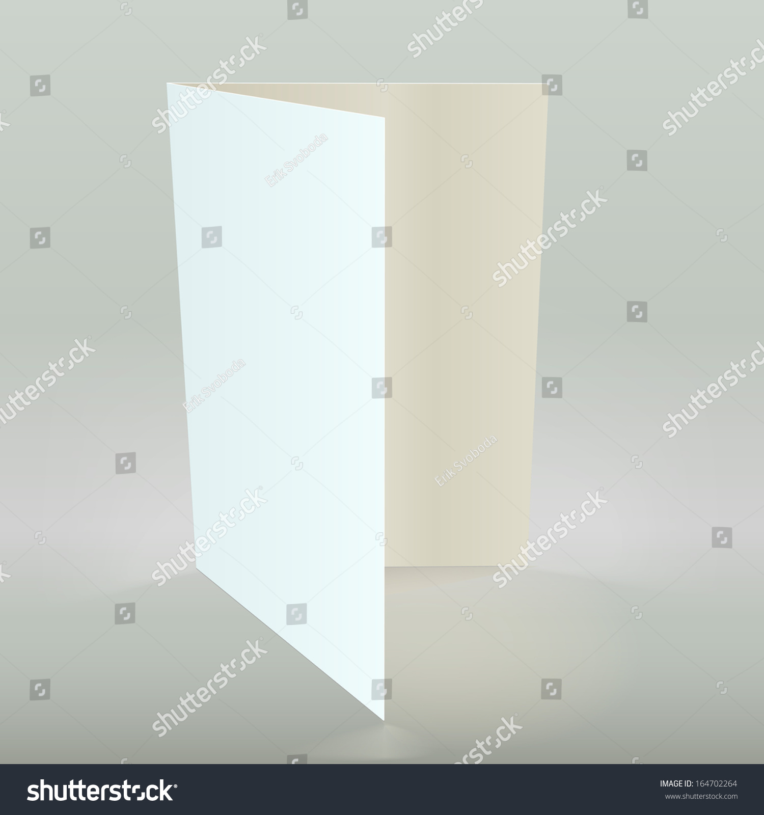 Empty Greeting Card Isolated Illustration Template Stock