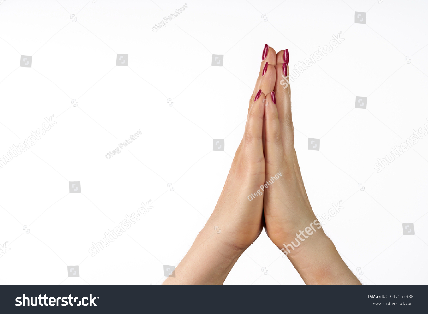 praying hands isolated on white background #1647167338