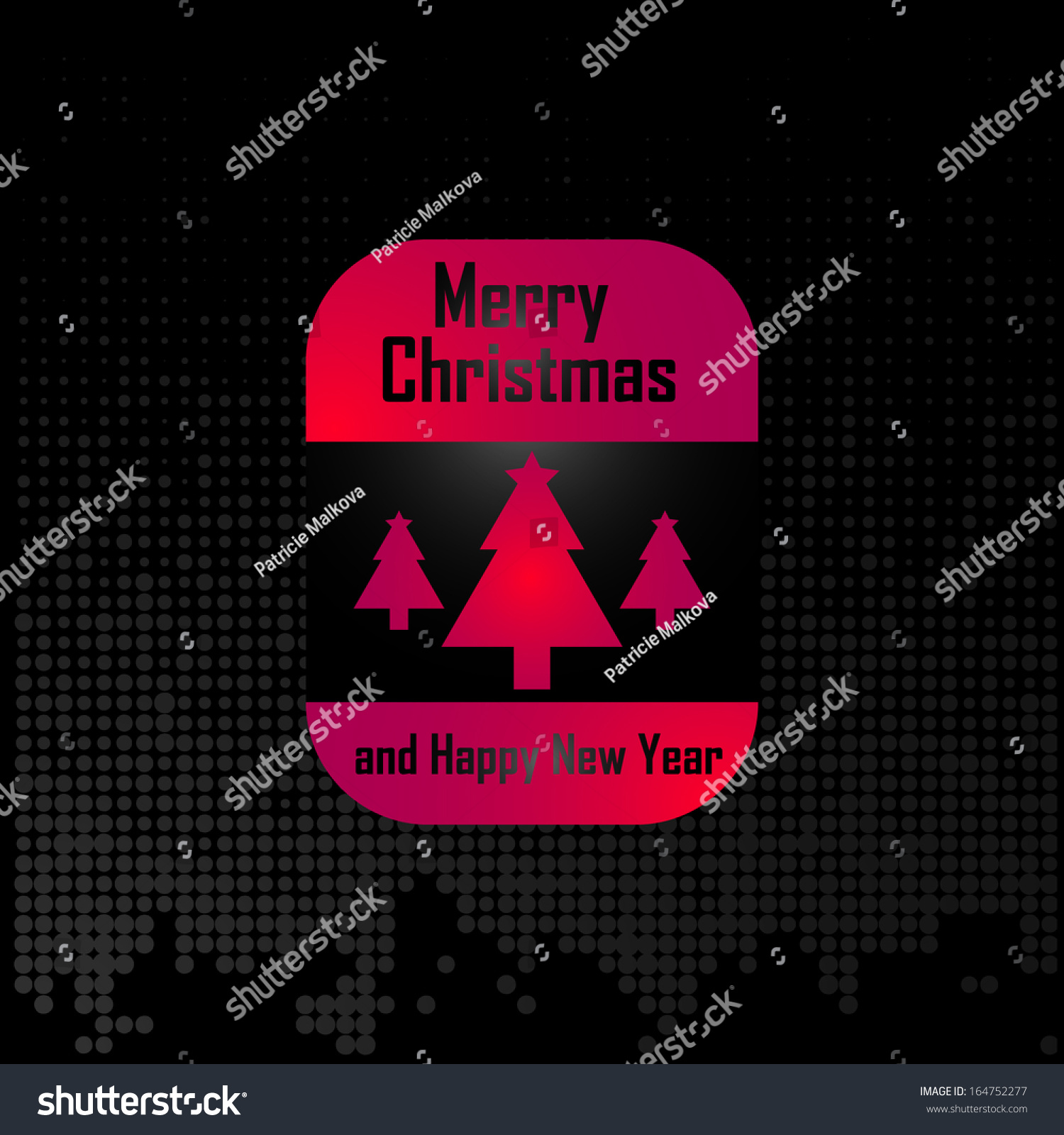 Merry Christmas Card Celebration Vector Colored Stock Vector ...