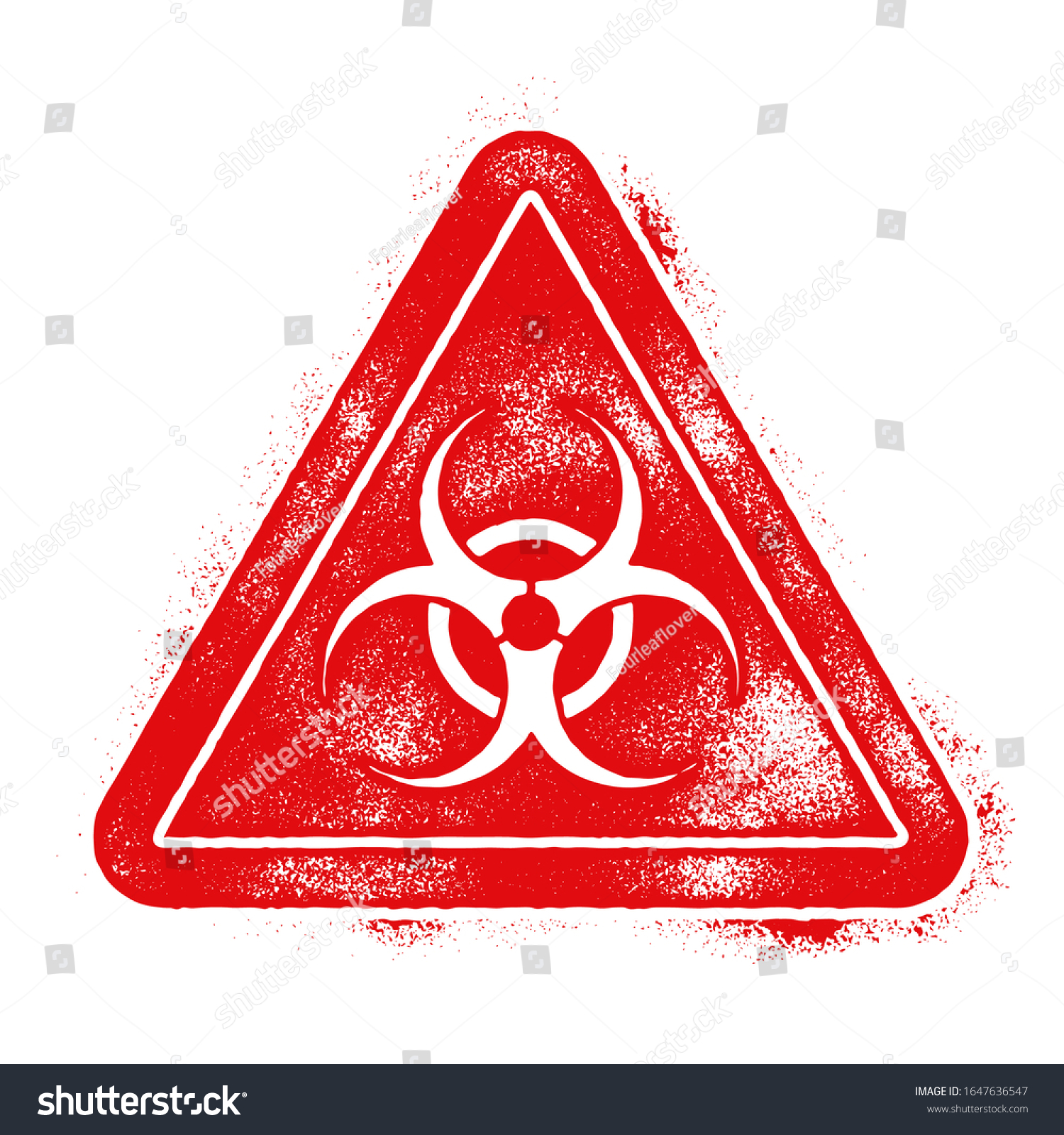 Biohazard Symbol Virus Infection Bacteria Contagion Stock Vector Royalty Free 1647636547