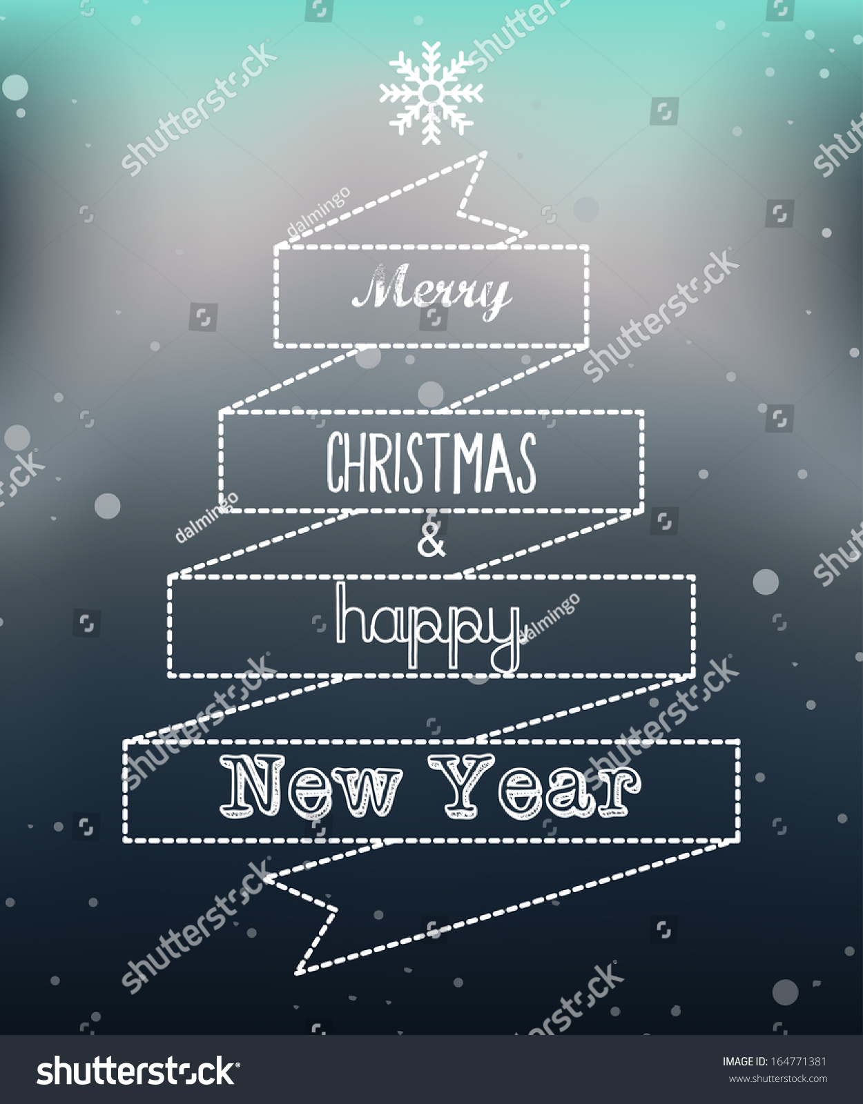 Merry Christmas Happy New Year Greeting Stock Vector Royalty Free