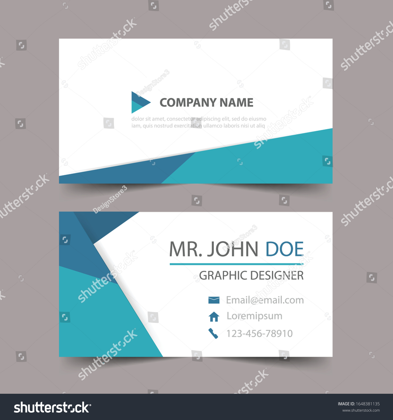 Modern Business Card Template Design Contact Stock Vector Royalty Free 1648381135