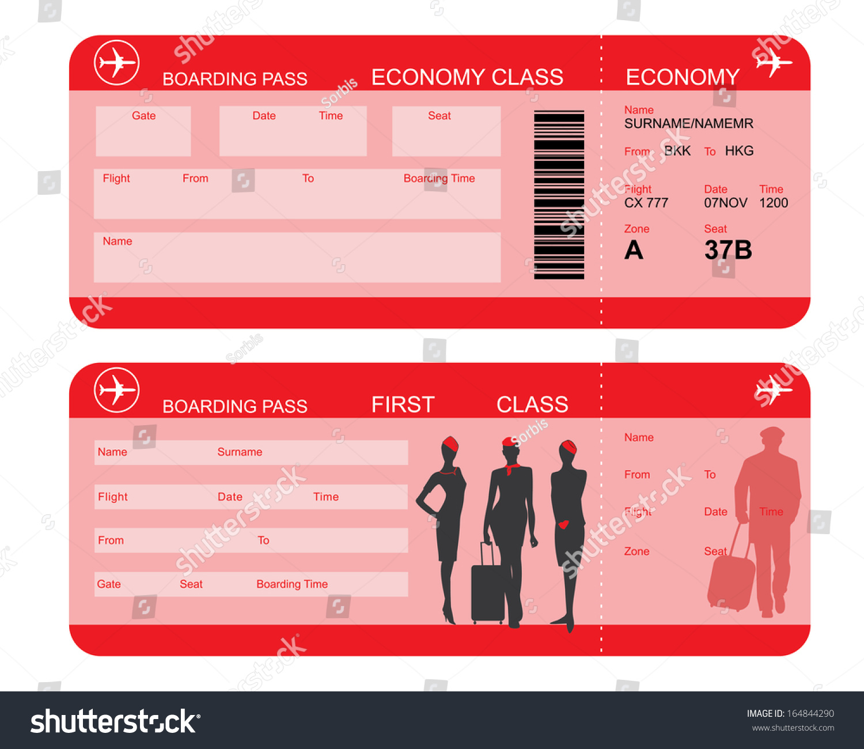 Boarding Pass Ticket, conceptual Wedding Invitation Template, vector ...