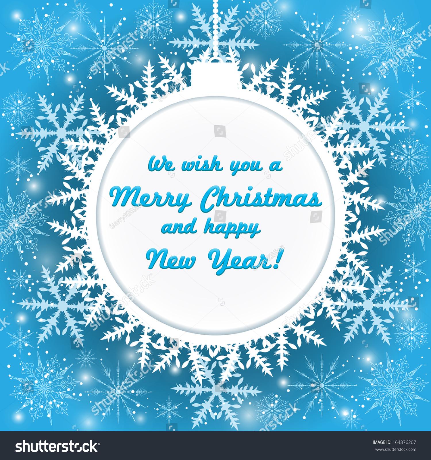 Vector invitation card snowflakes happy new stock vector 164876207 vector invitation card with snowflakes happy new year merry christmas invitation card nice stopboris Choice Image