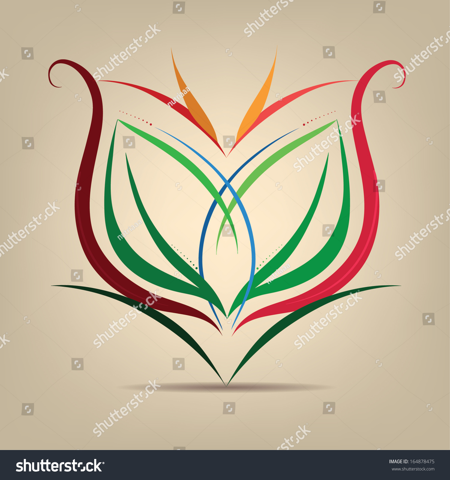 Flower Symbol In The Abstract Vector Illustration Shutterstock