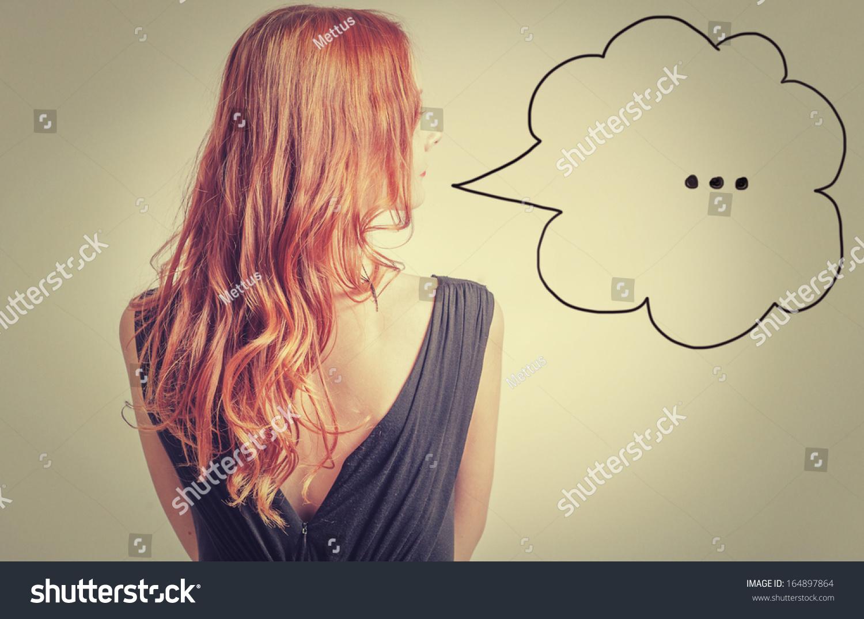 Рыжие девушки волосами вид сзади 16 фотография
