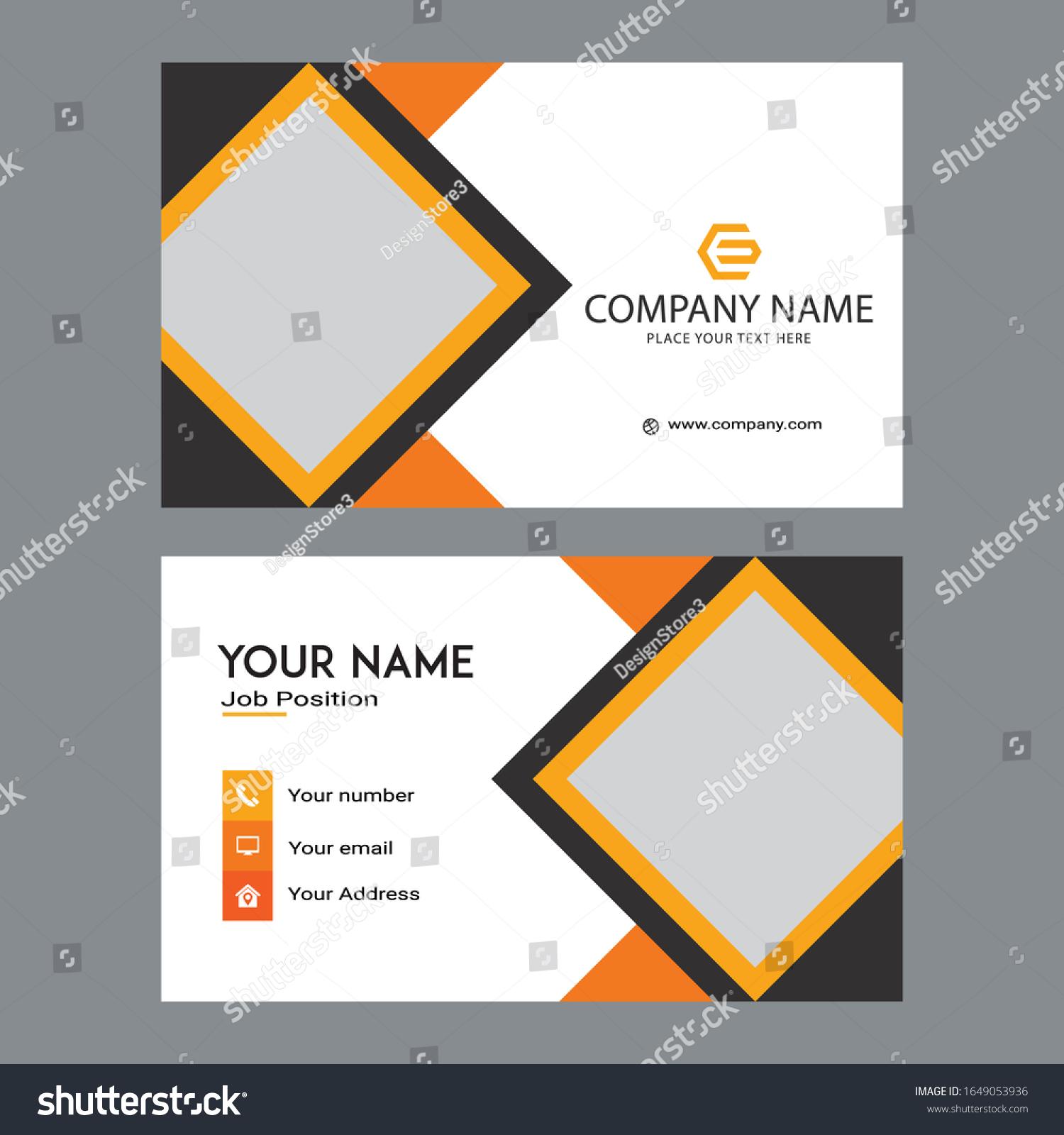 Contact Card Template Design Modern Business Stock Vector (Royalty Throughout Call Card Templates