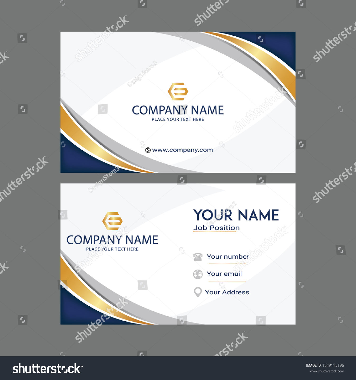 Contact Card Template Design Modern Business Stock Vector (Royalty In Call Card Templates