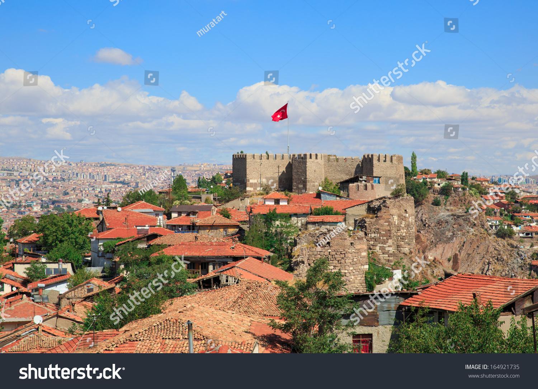 Ankara Castle Ankara Capital City Turkey Stock Photo ...