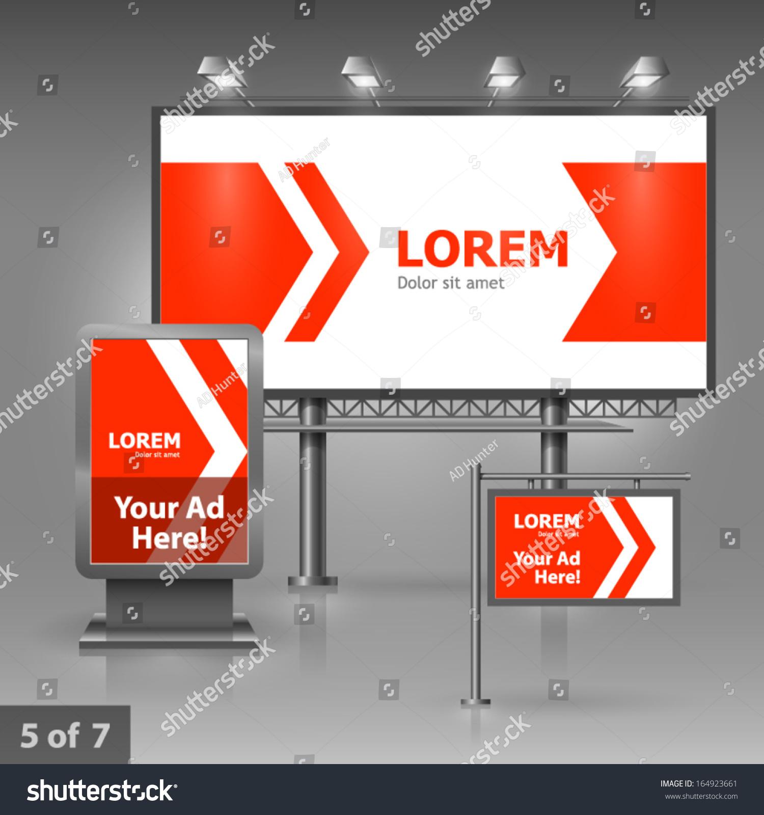 Outdoor Advertising Design Company Red Arrows Stock Vector ...