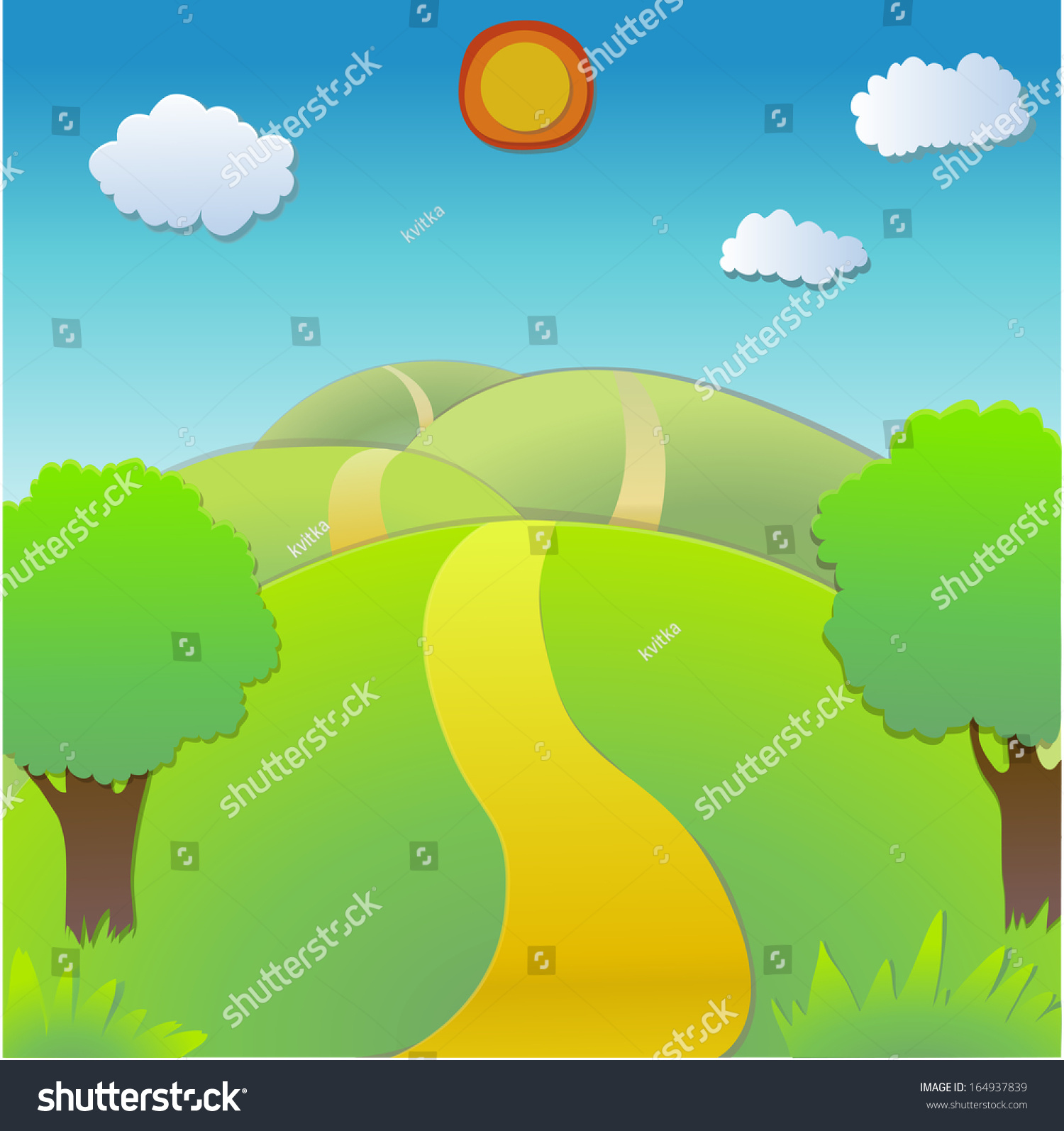 Vector landscape from paper for your design 164937839 for Landscape design paper