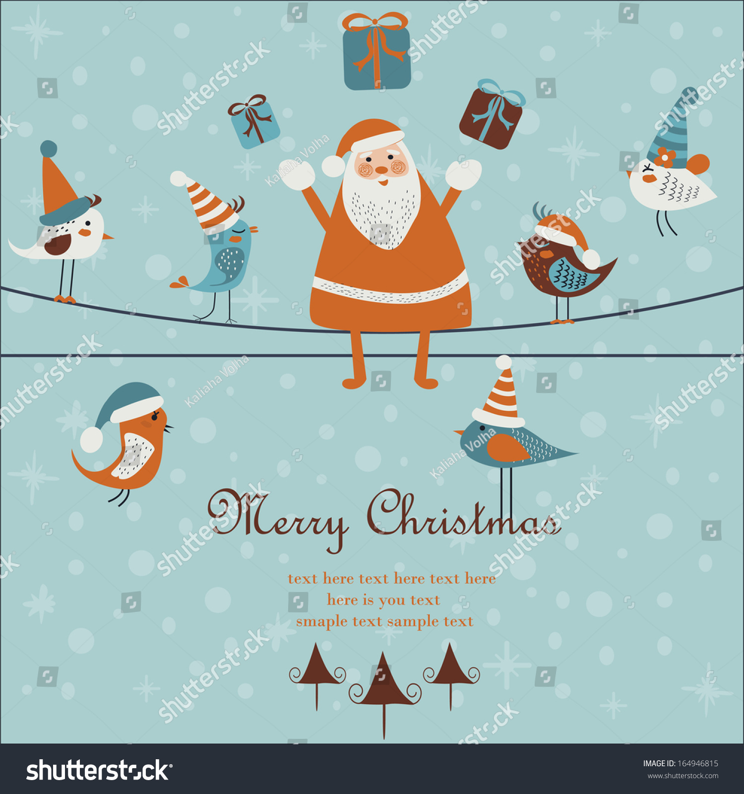 Christmas Happy New Year Greeting Card Stock Photo Photo Vector