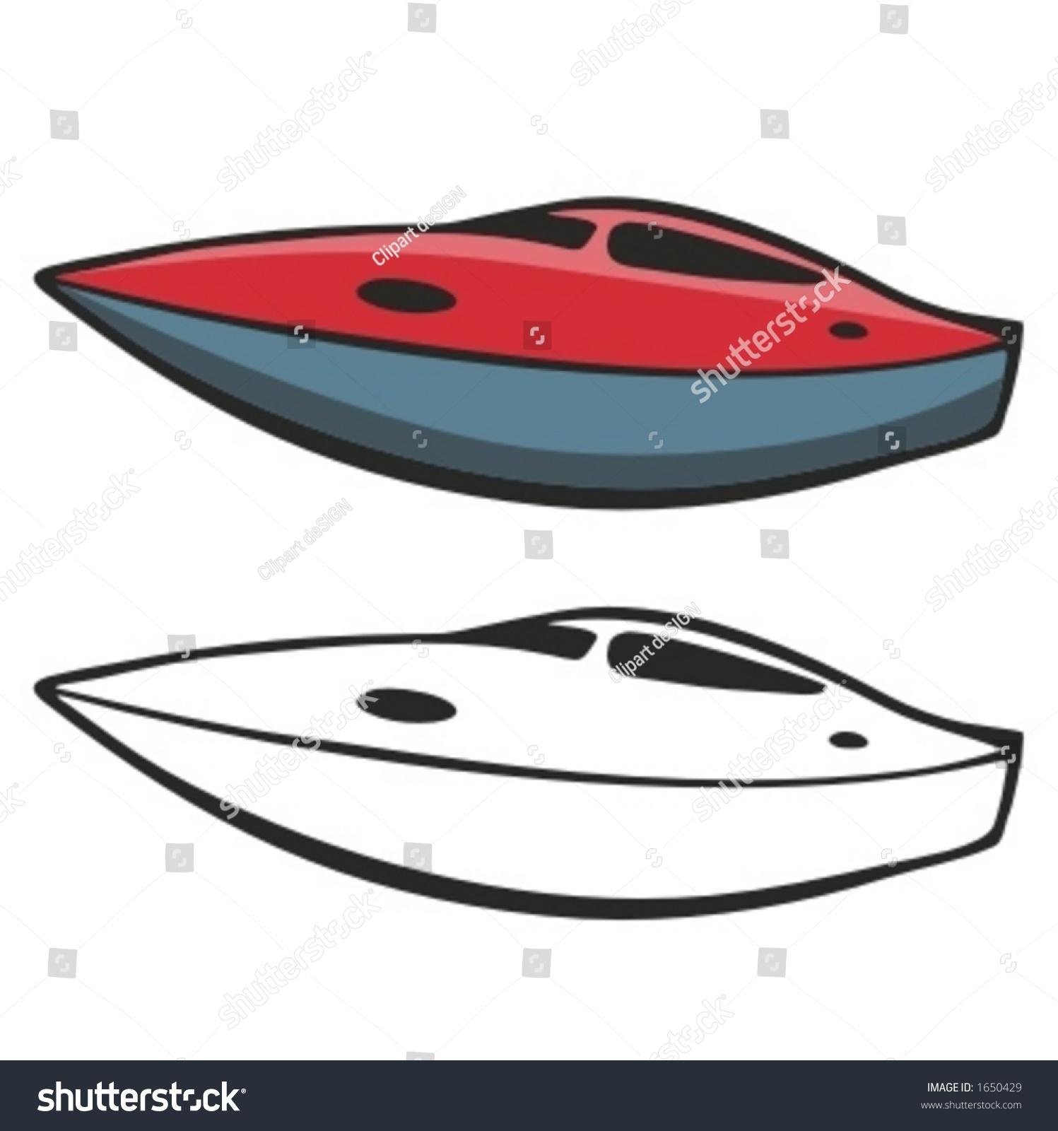 Motor Boat Vector Illustration Stock Vector 1650429