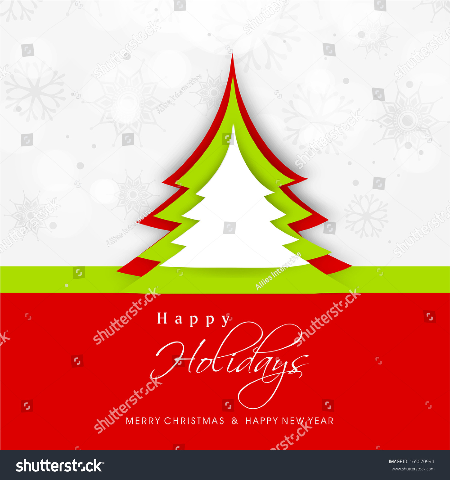 Merry christmas celebration greeting card invitation stock vector merry christmas celebration greeting card or invitation card with stylish xmas tree on snowflakes decorated grey stopboris Image collections