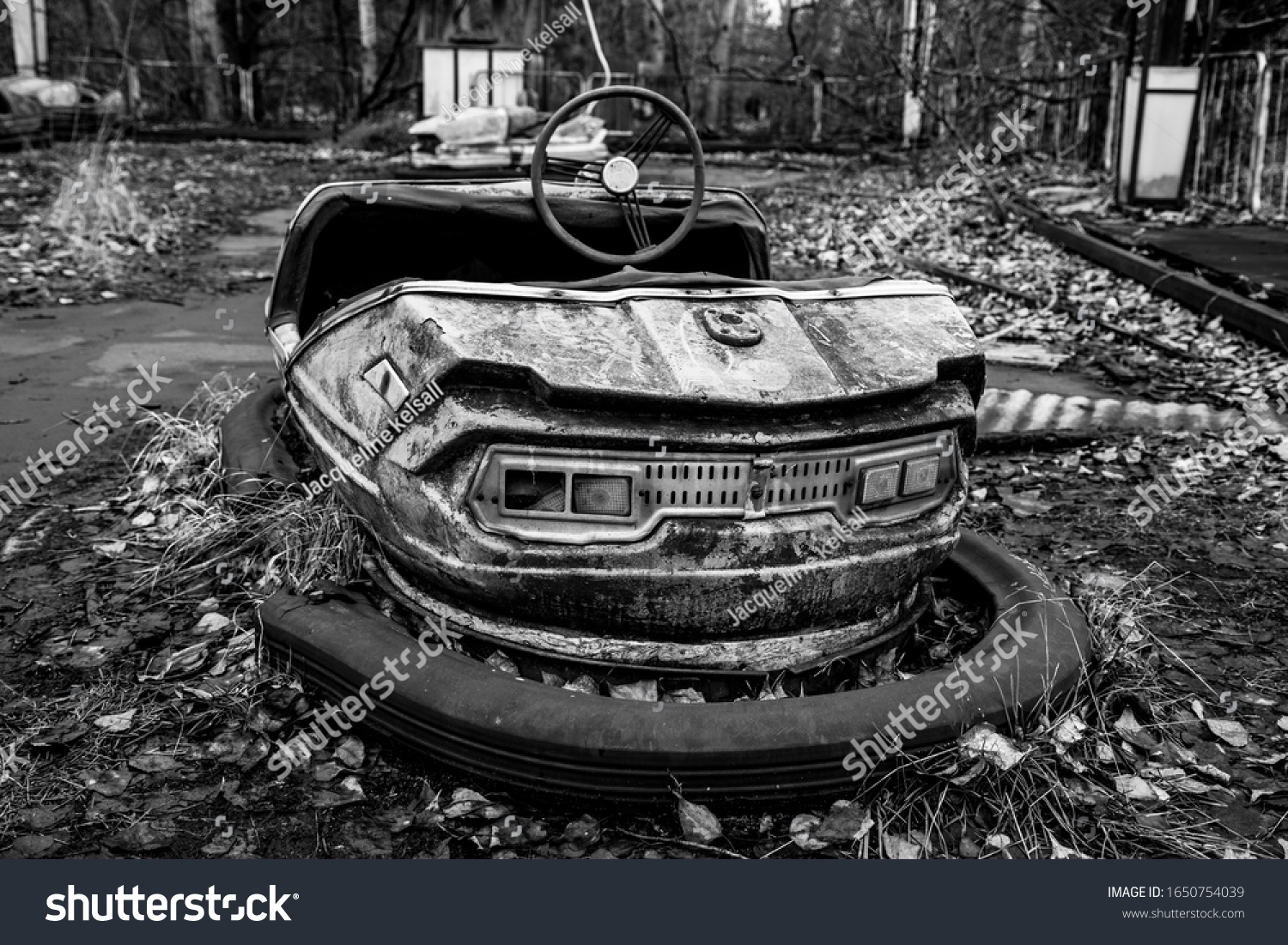 stock-photo-a-vintage-bumper-car-at-the-
