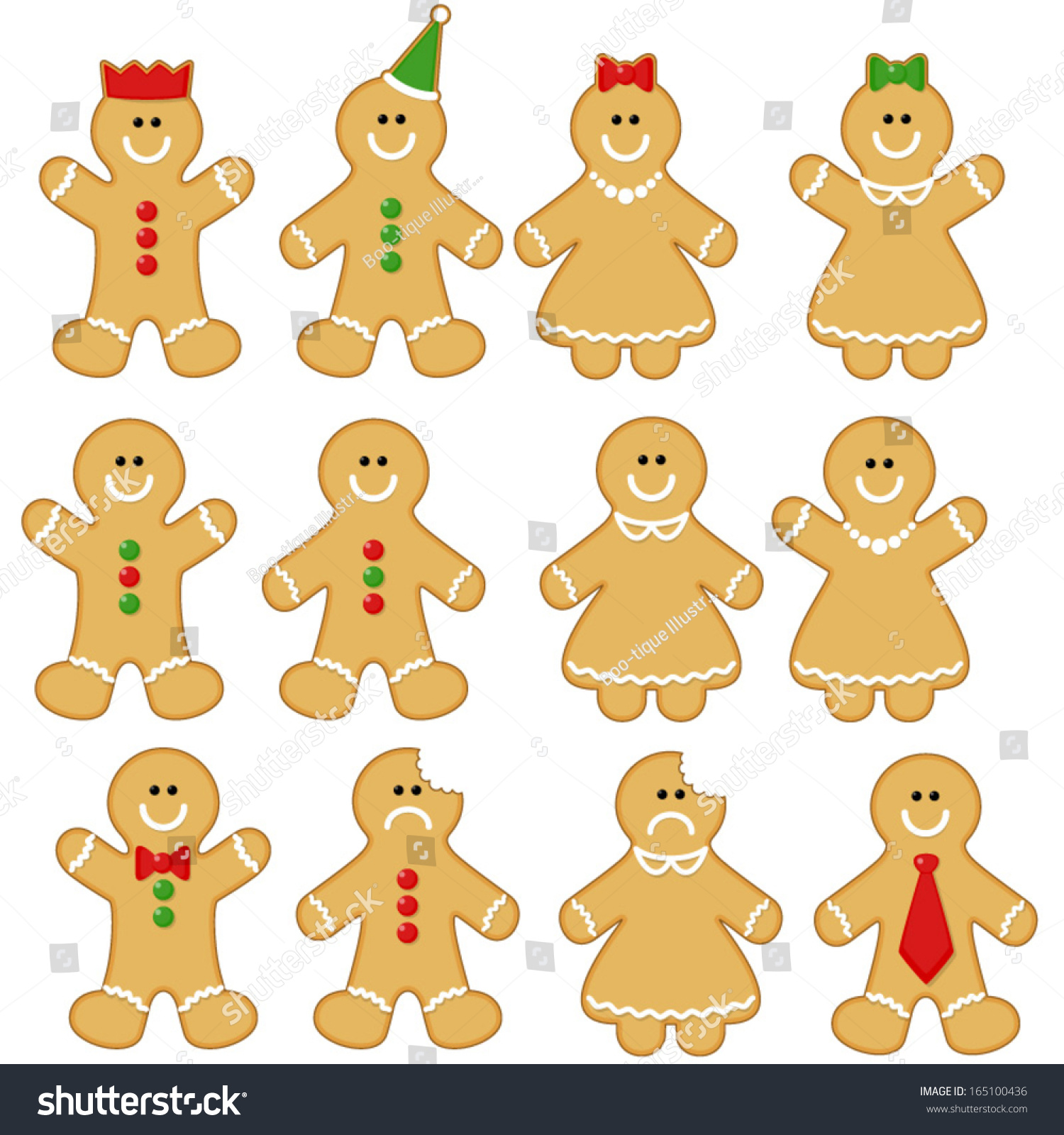 gingerbread man clipart set gingerbread man stock vector royalty rh shutterstock com Gingerbread Man Outline Clip Art gingerbread man clip art free