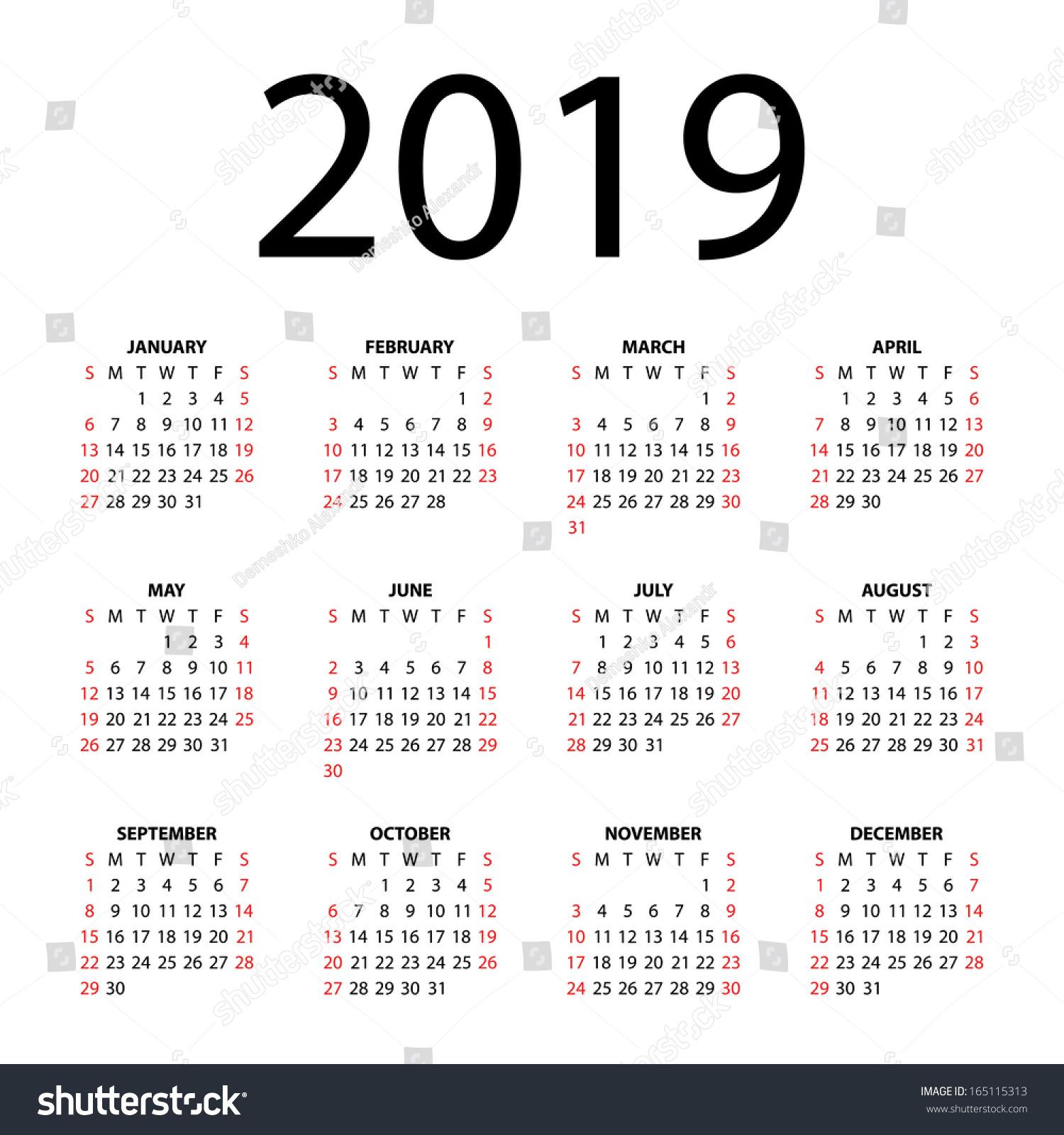 Calendar Background Vector : Calendar for on white background vector eps