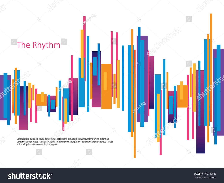 Rhythm Design Template Stock Vector 165146822 Shutterstock