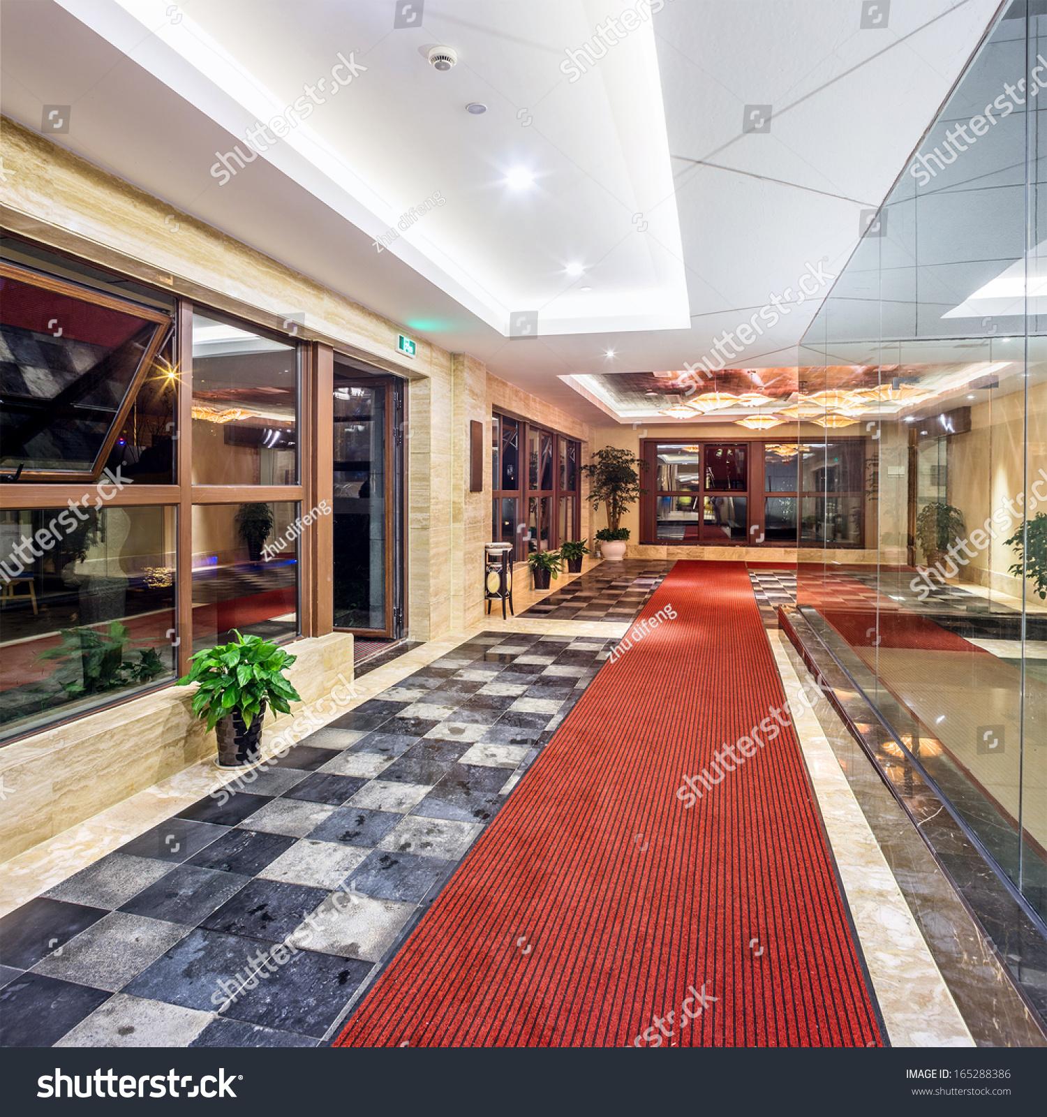Contemporary Hotel Foyer : Hall modern hotel stock photo shutterstock
