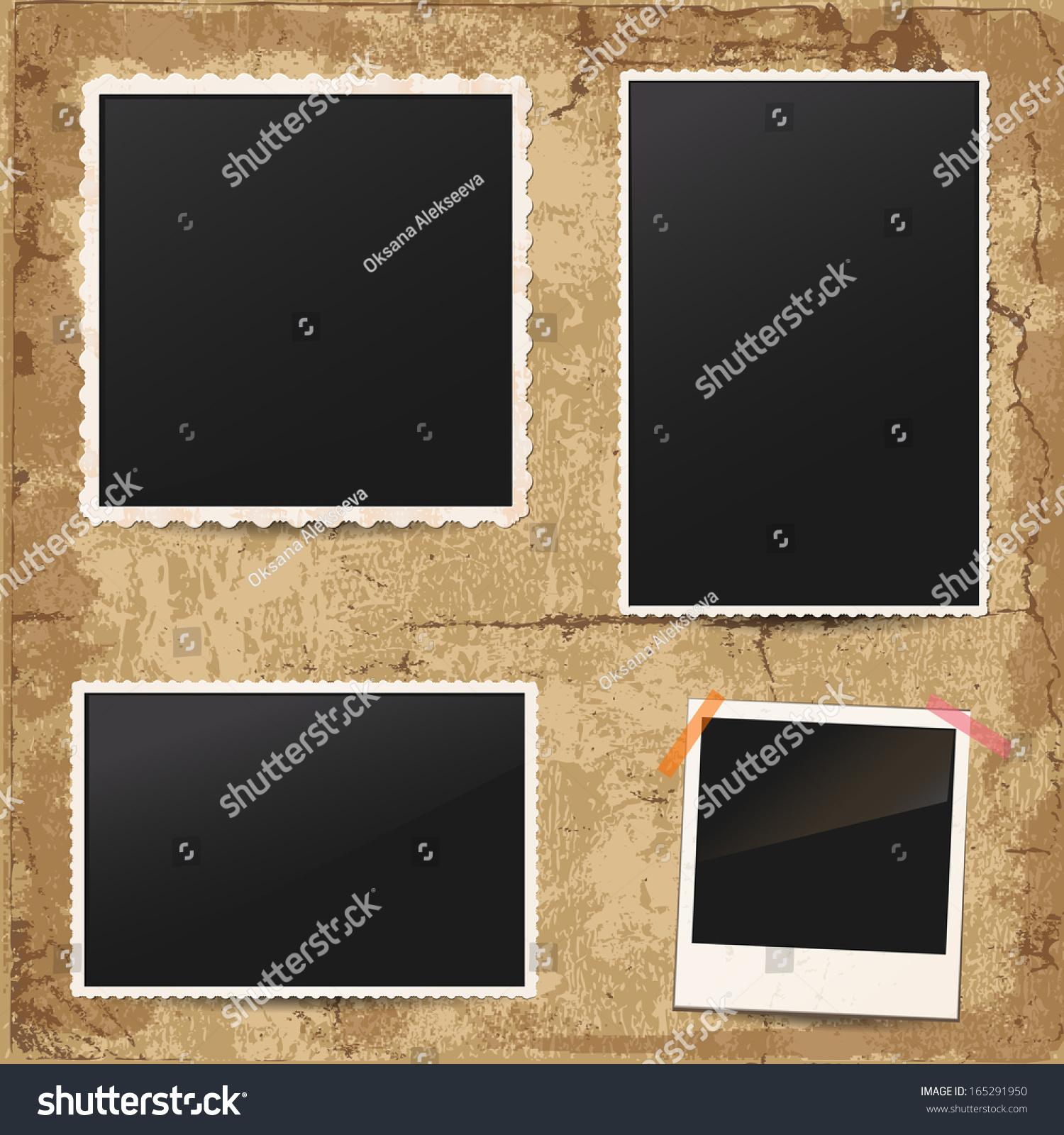 White Retro Frames On Vintage Background Stock Vector 165291950 ...