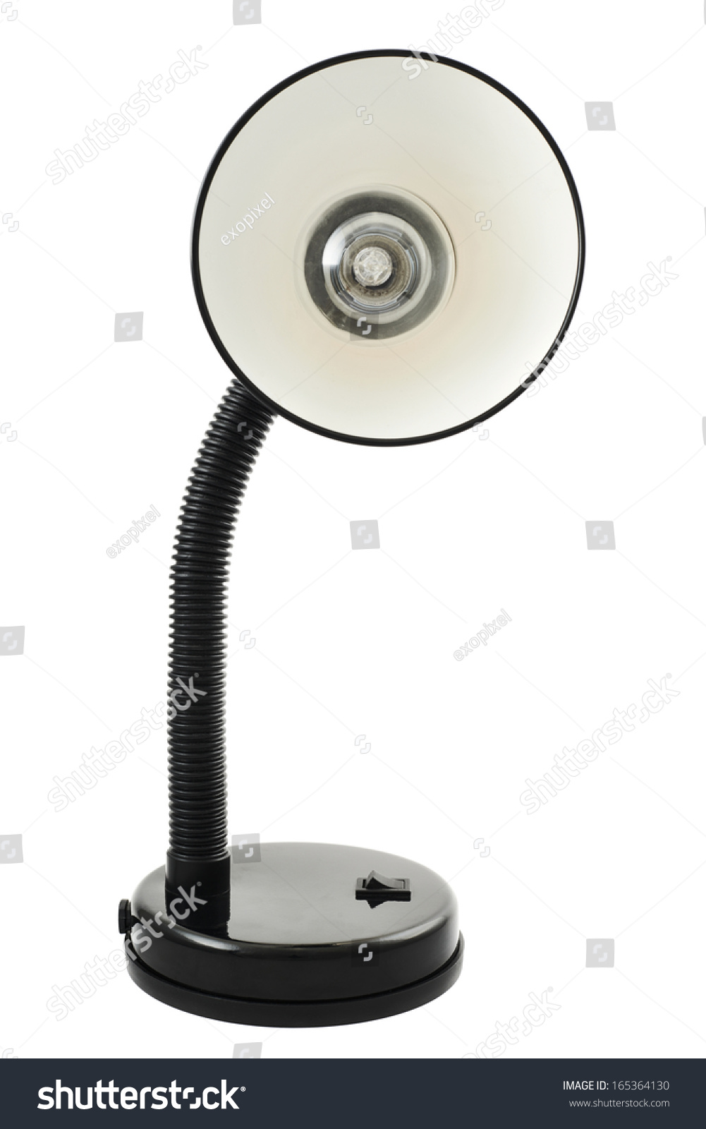 Black office table lamp isolated over stock photo 165364130 black office table lamp isolated over white background front view geotapseo Gallery