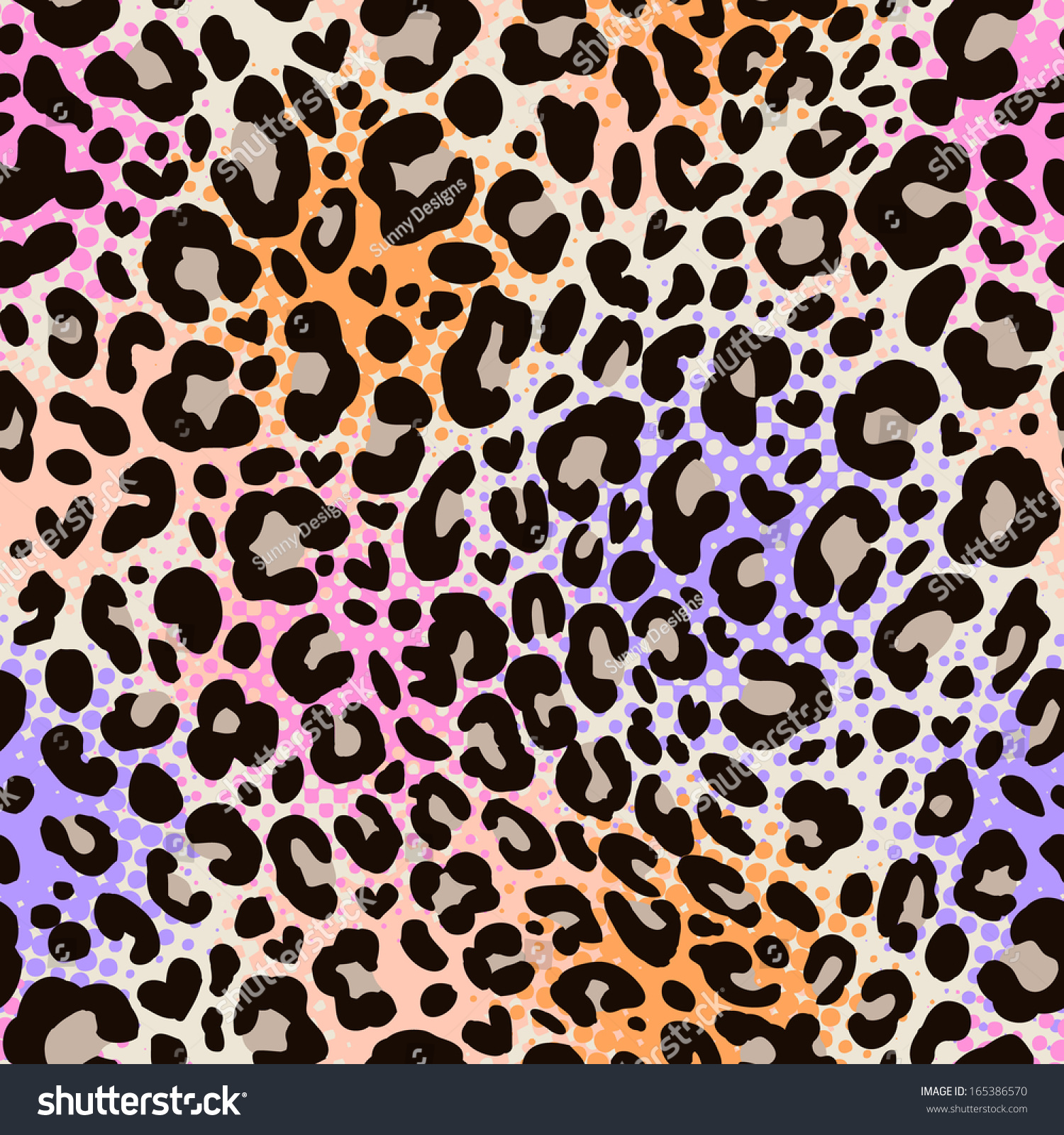 Colorful Animal Print Seamless Background Stock Vector ...