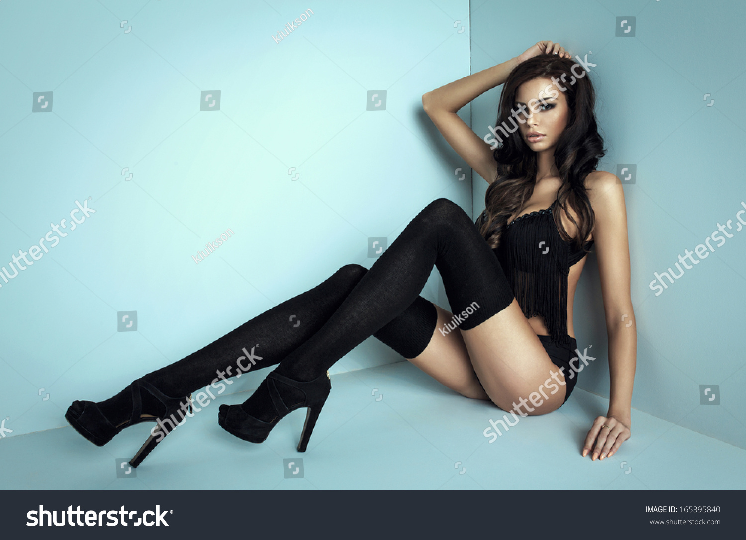 Woman Long Legs Stock Photo (Edit Now) 165395840 - Shutterstock 168bef54a