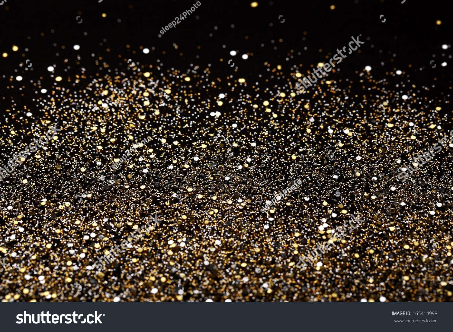 Christmas Gold And Silver Glitter Background. Holiday