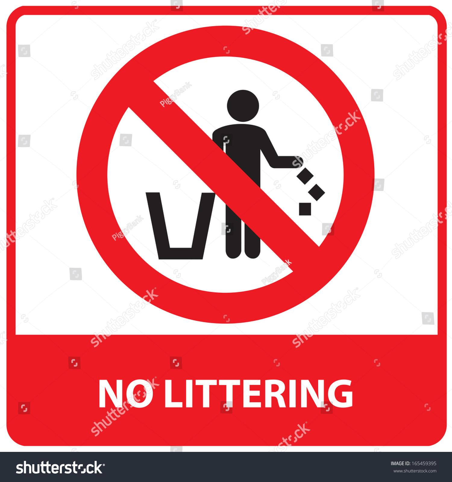 Royalty Free Stock Illustration Of No Littering Sign Stock