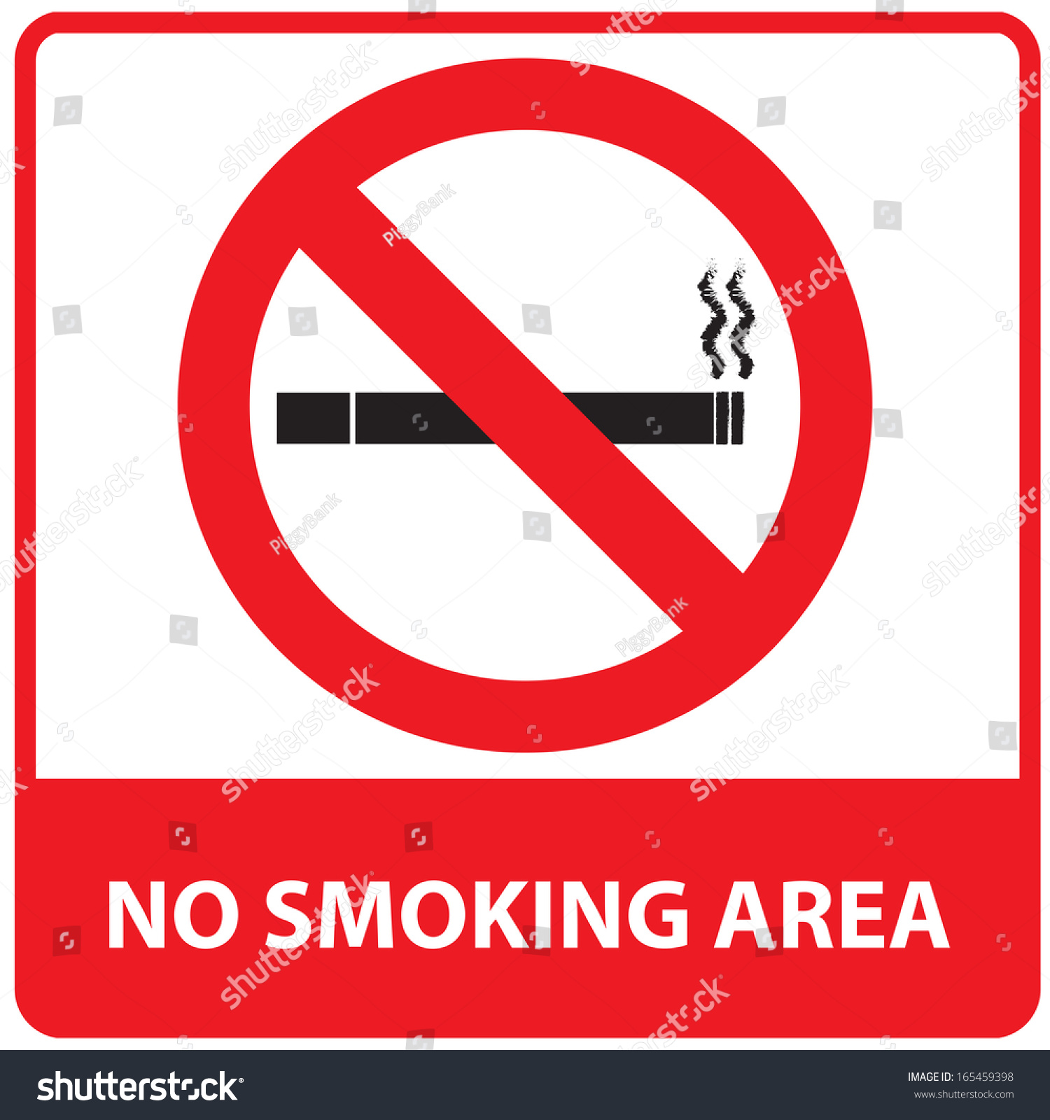 No Smoking Area Sign Stock Illustration 165459398 ...