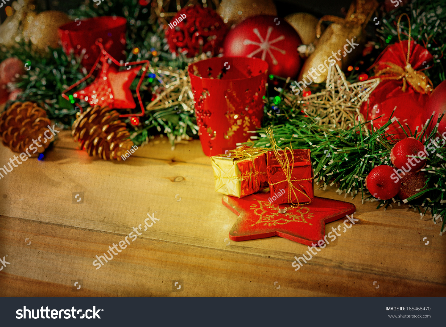 Old Fashioned Antique Christmas Decoration Stock Photo Edit Now 165468470