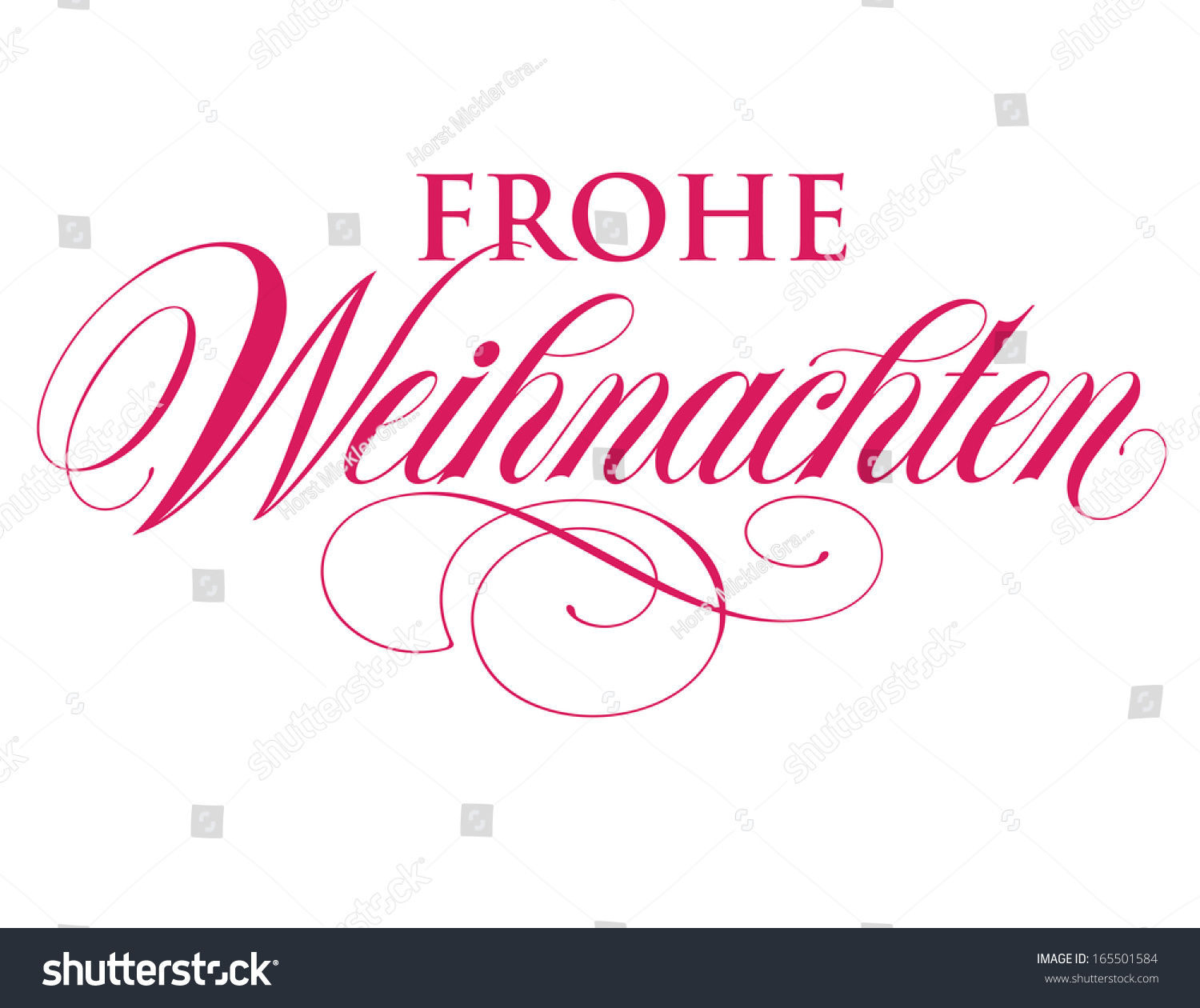 elegant holiday vector lettering series frohe stock vector. Black Bedroom Furniture Sets. Home Design Ideas