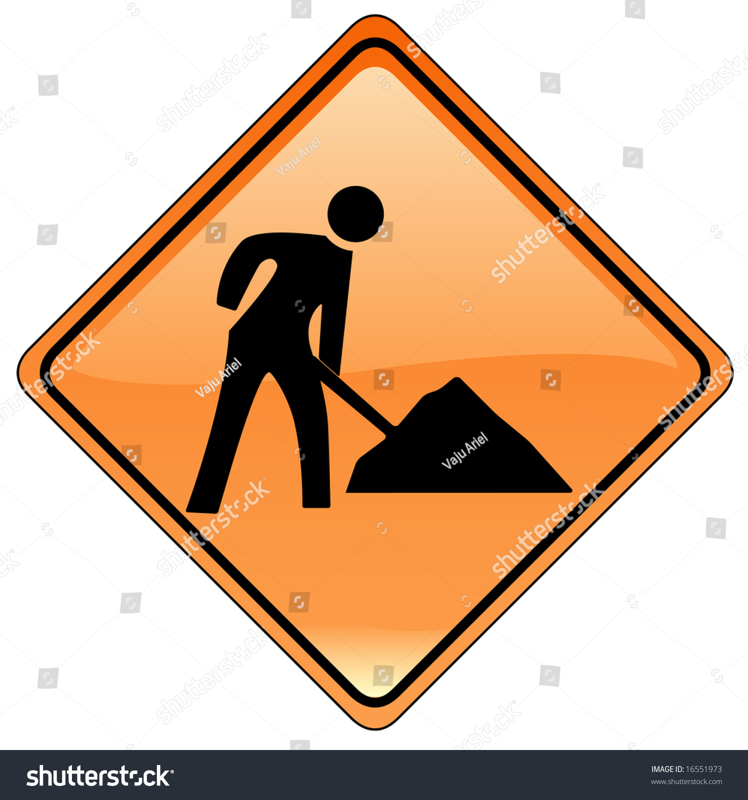 Road Barricade Signs Stock Photo Individual Road Signs Orange