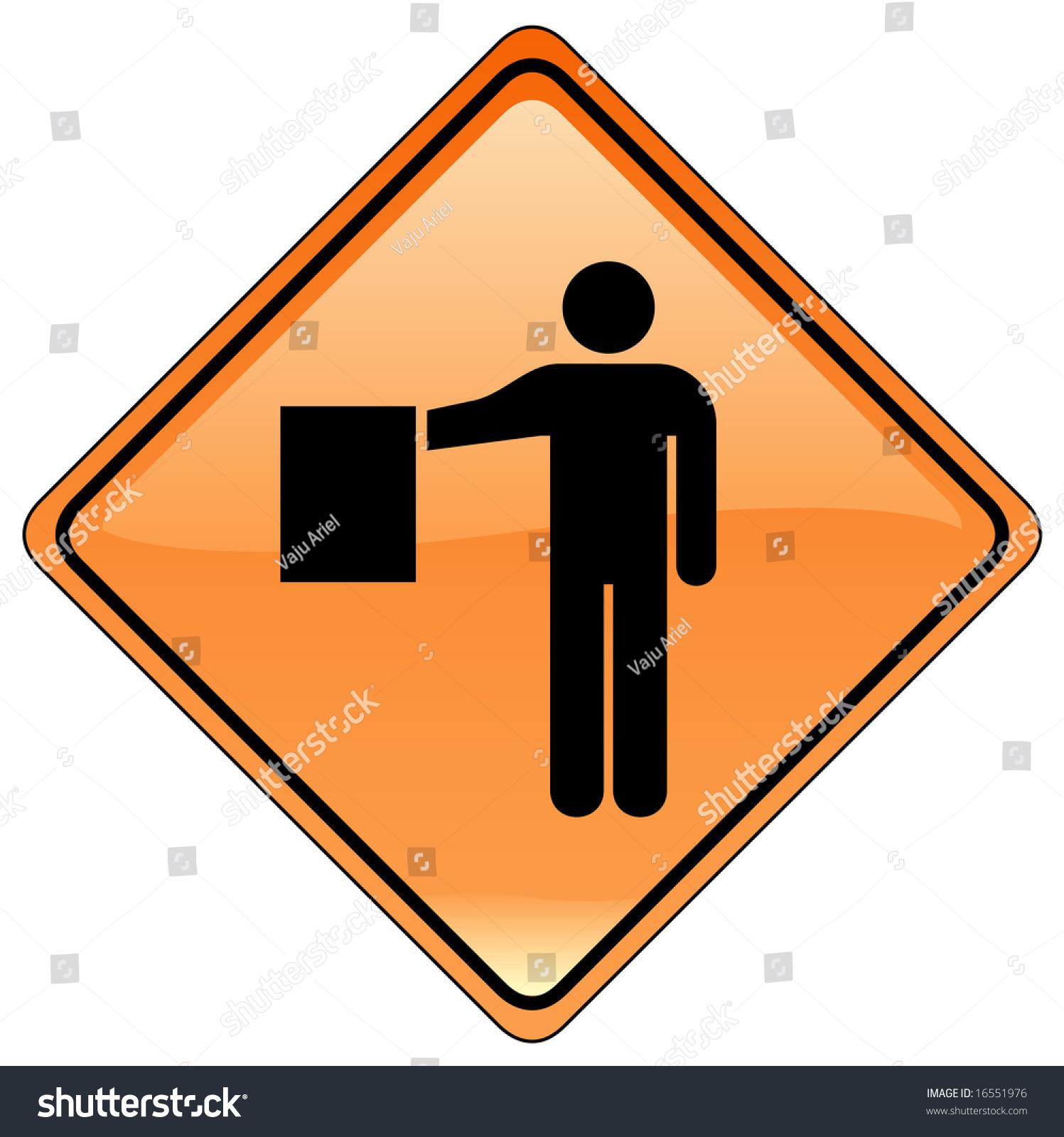 Individual Road Signs - Orange Stock Photo 16551976 ...